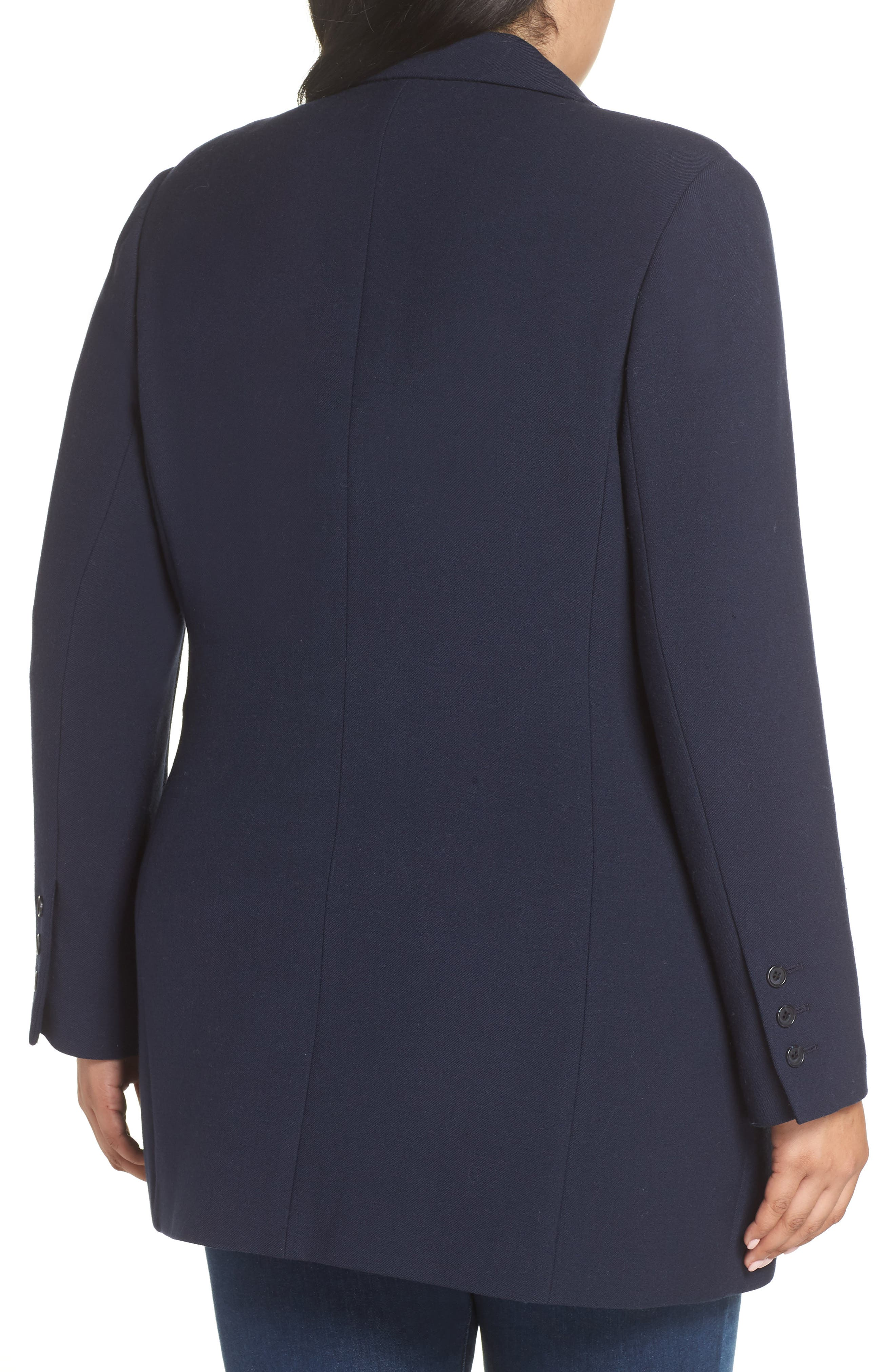 x Atlantic-Pacific Menswear Double Breasted Blazer,                             Alternate thumbnail 2, color,                             NAVY