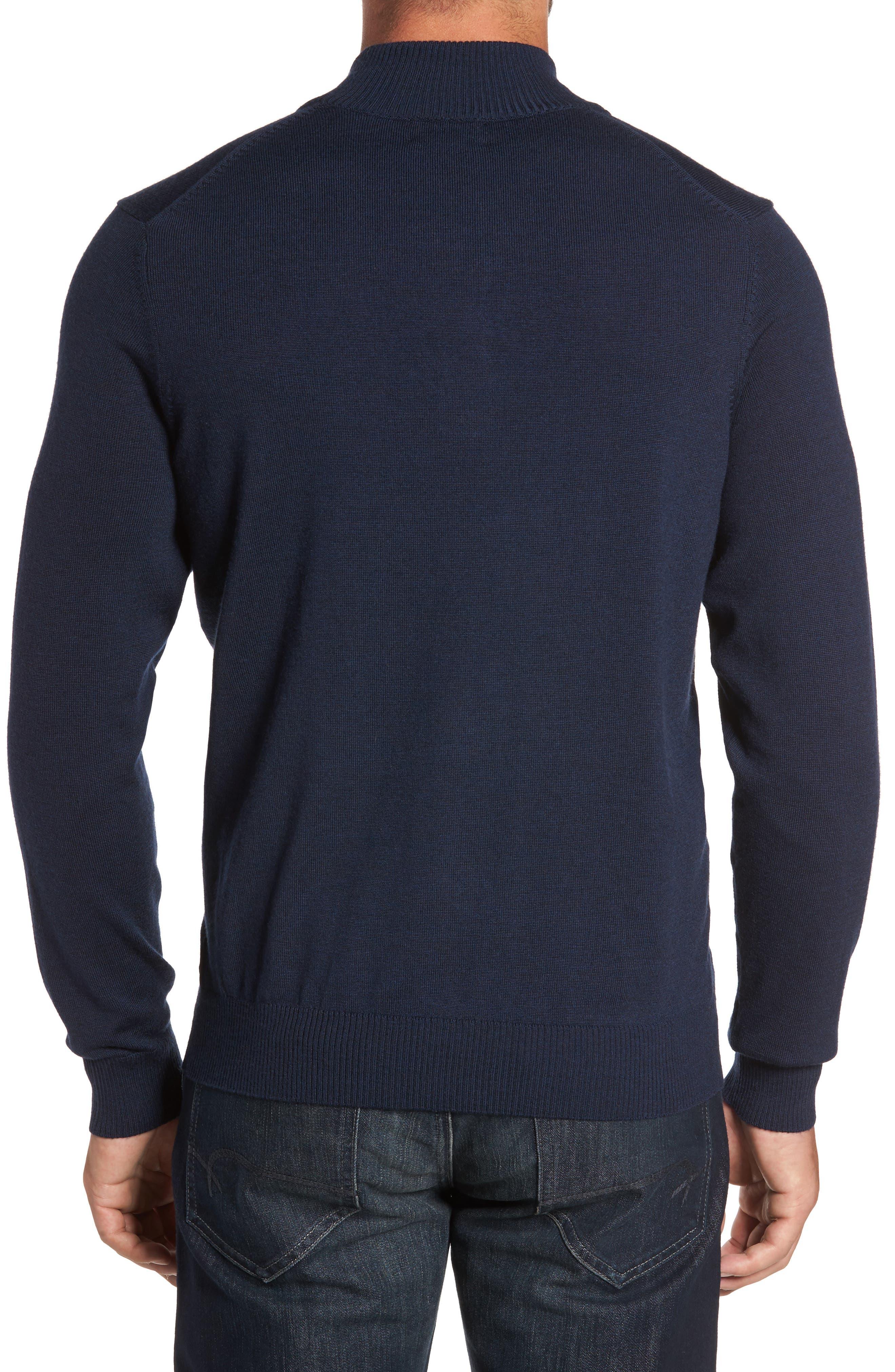 Merino Wool Blend Mock Neck Sweater,                             Alternate thumbnail 6, color,
