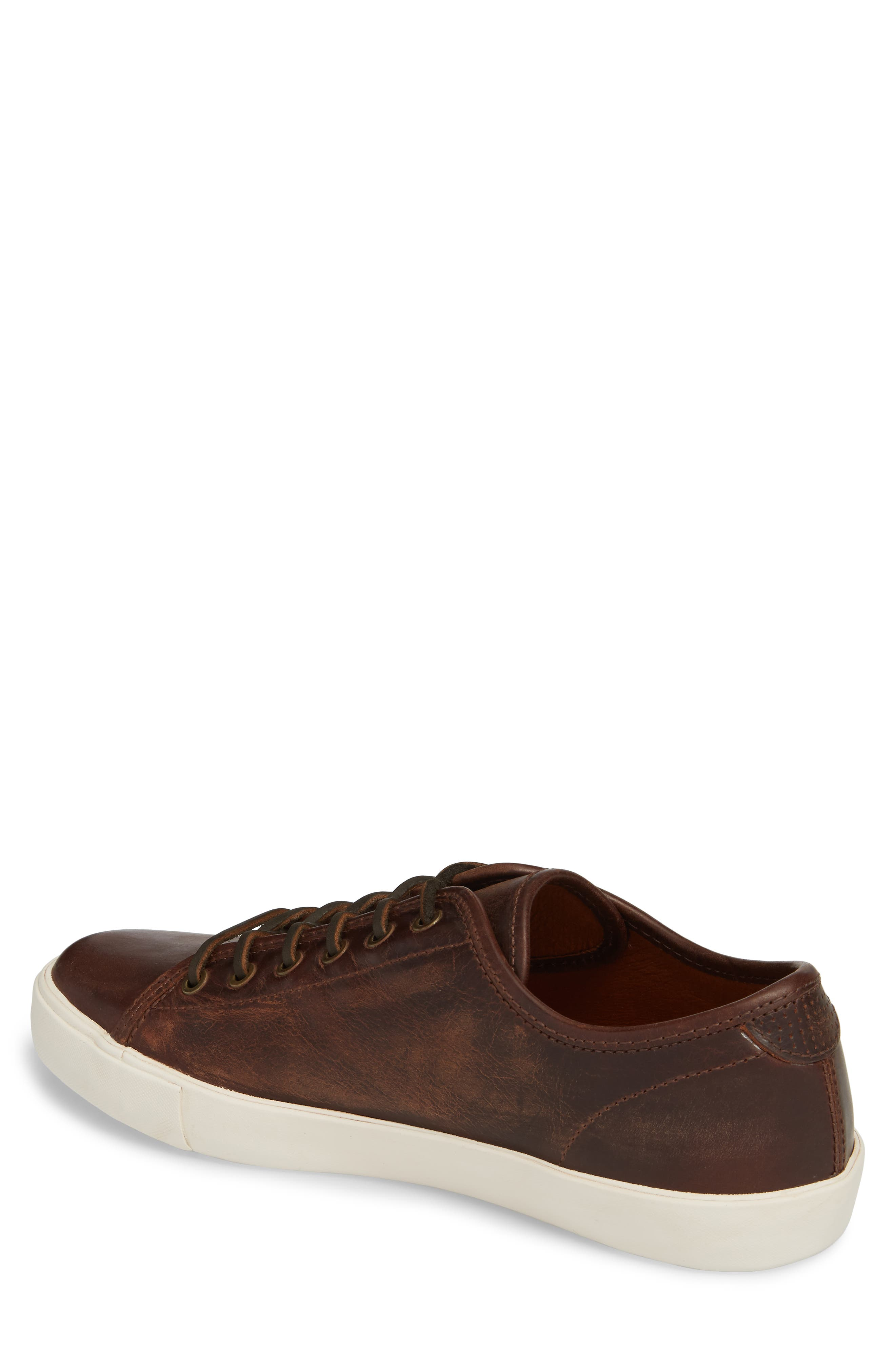 Brett Sneaker,                             Alternate thumbnail 2, color,                             REDWOOD LEATHER