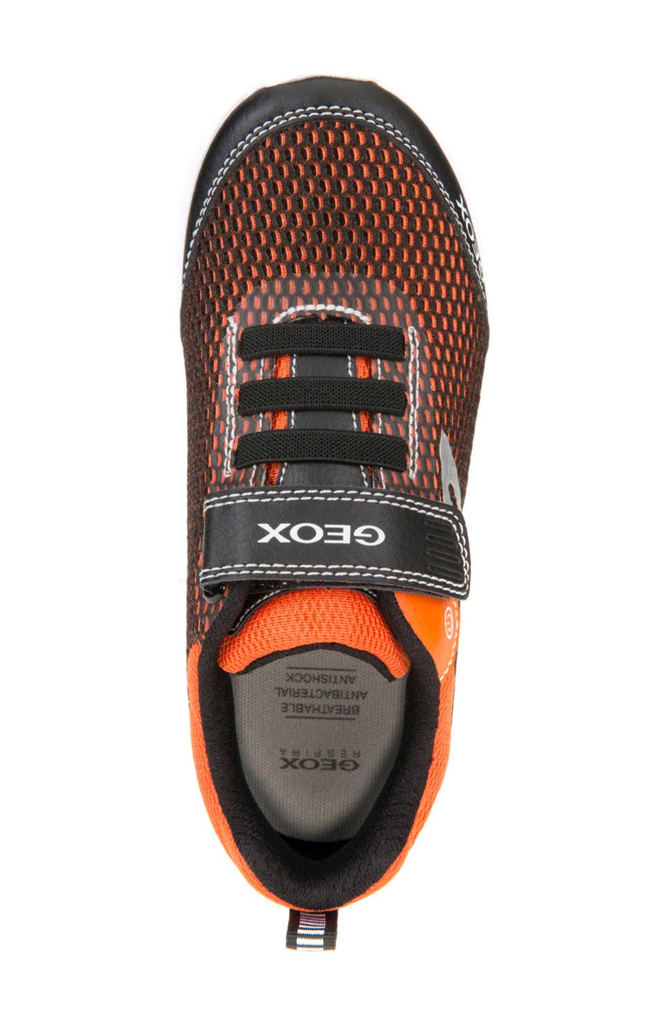 Sveth Light-Up Sneaker,                             Alternate thumbnail 4, color,                             BLACK/ ORANGE