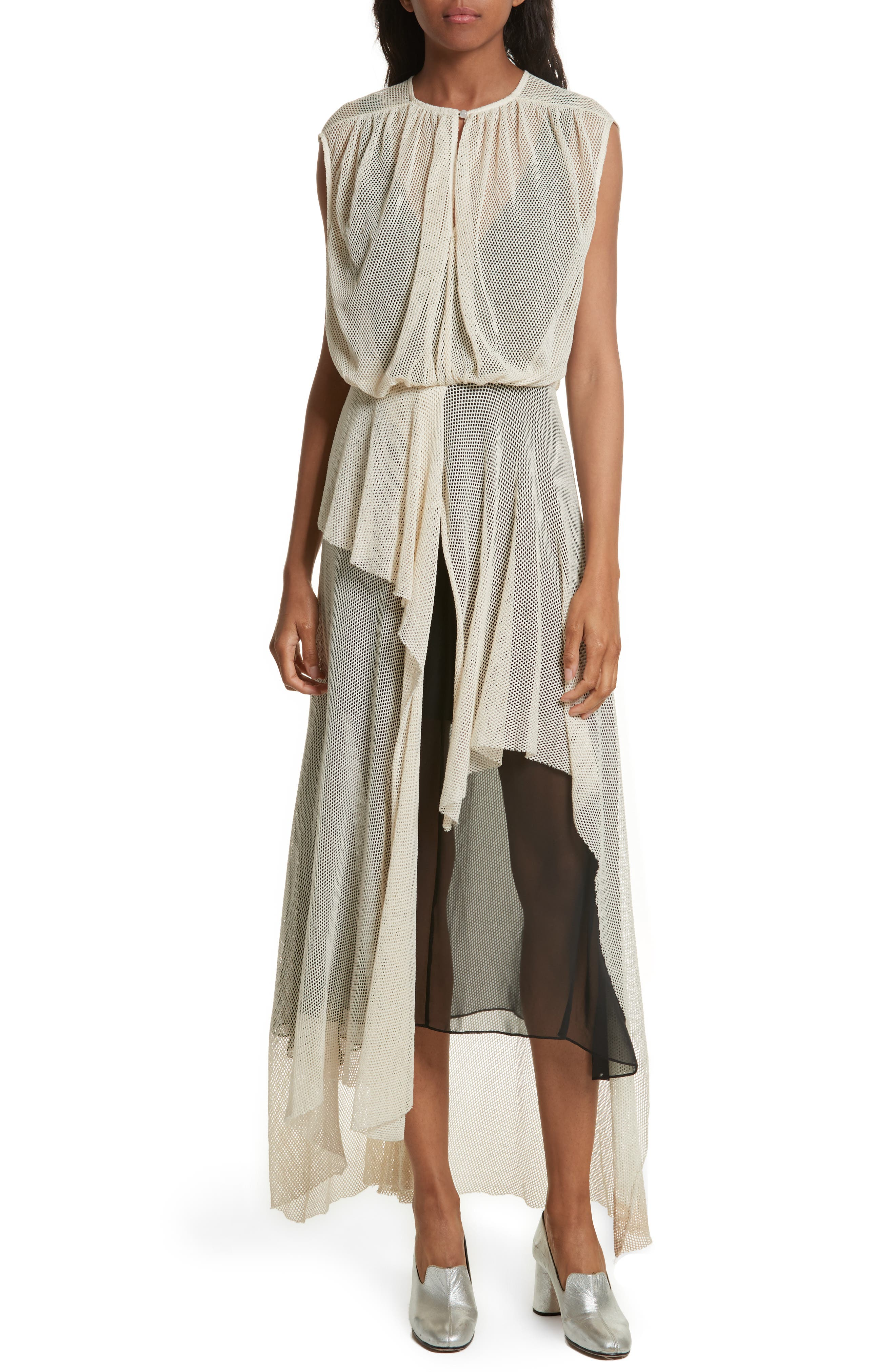 Tangle Ruffle Midi Dress,                             Main thumbnail 1, color,                             250