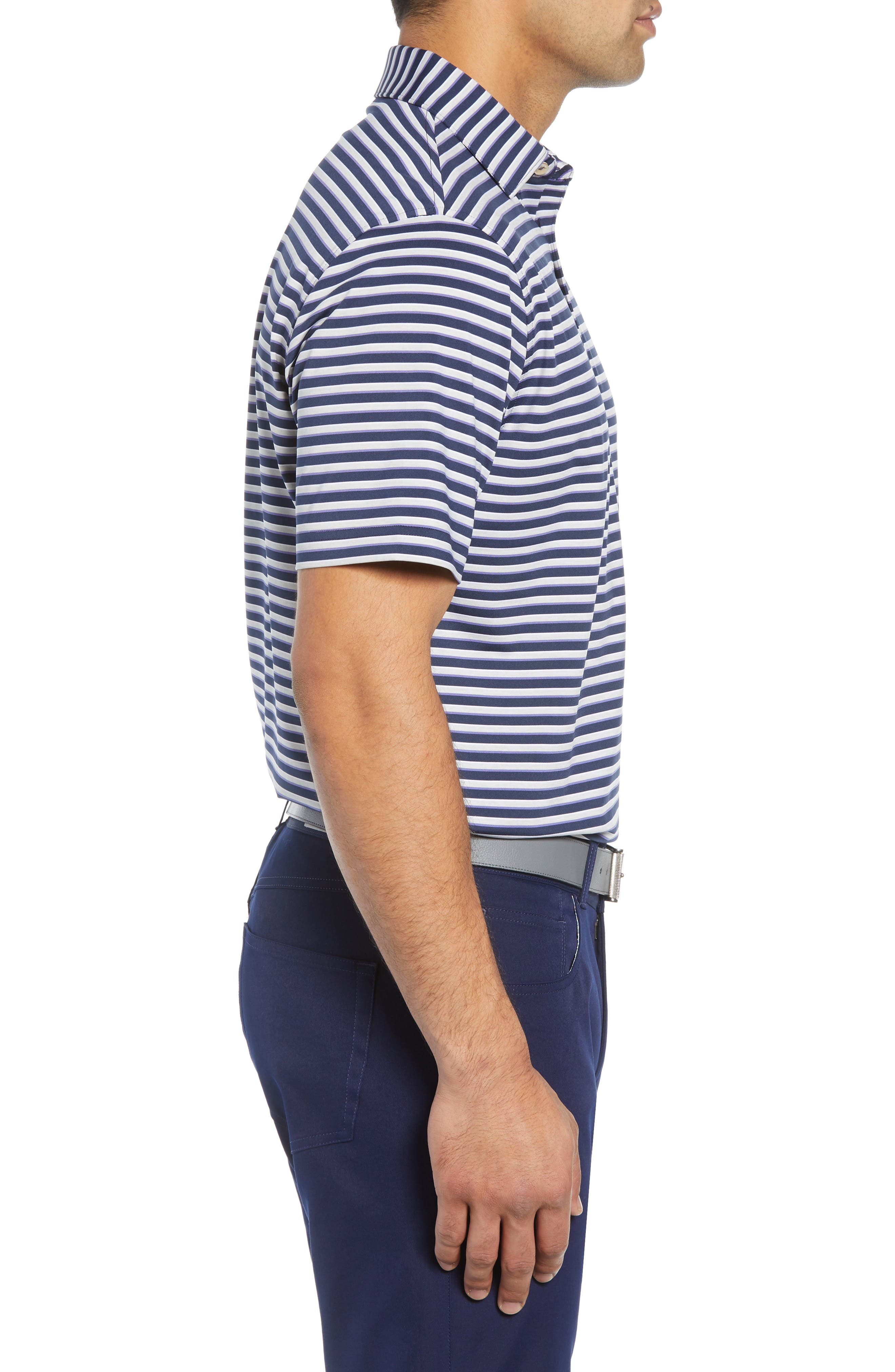 Camelot Stripe Stretch Jersey Polo,                             Alternate thumbnail 3, color,                             410