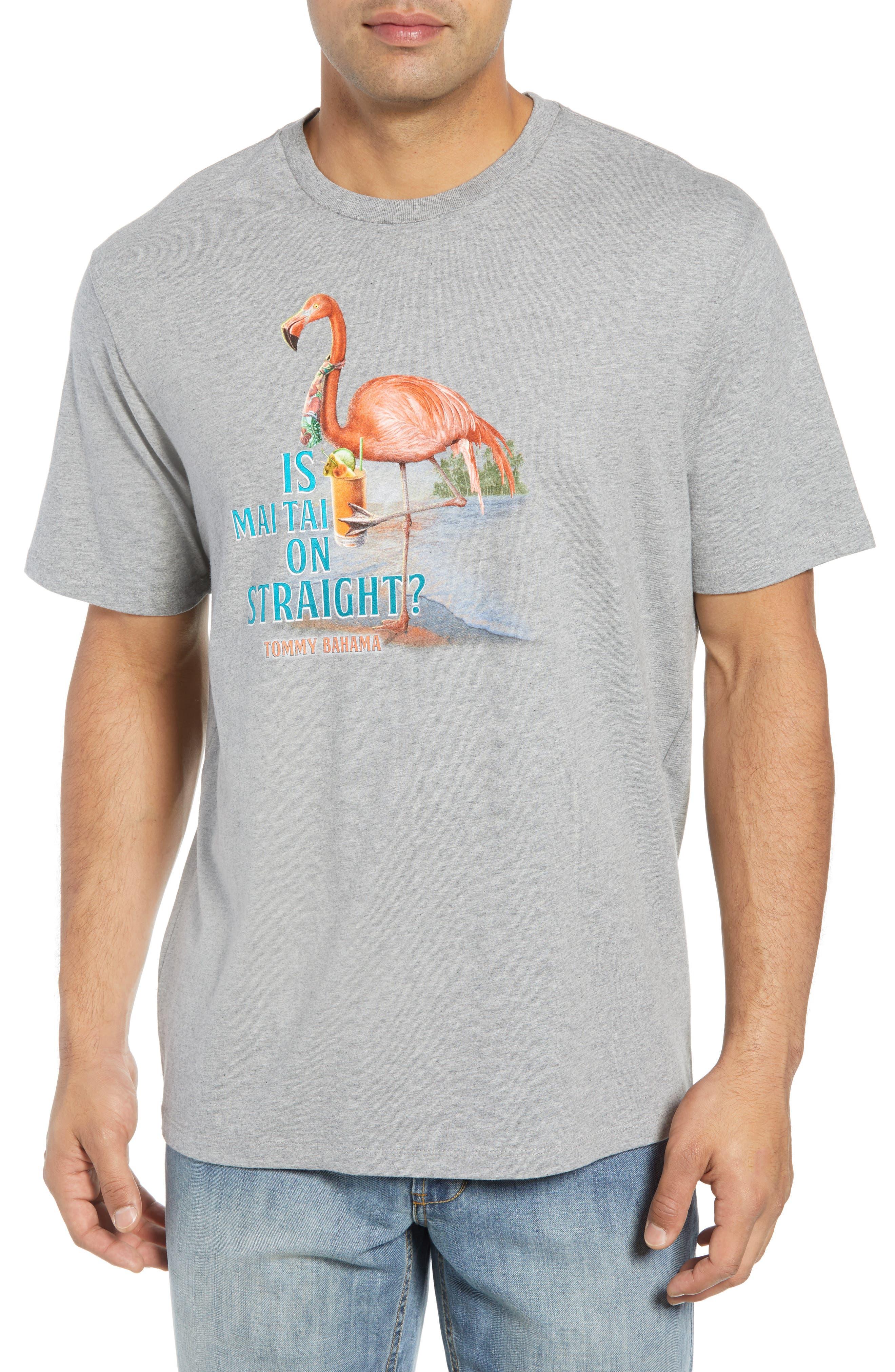 Is Mai Tai on Straight? T-Shirt,                         Main,                         color, GREY HEATHER