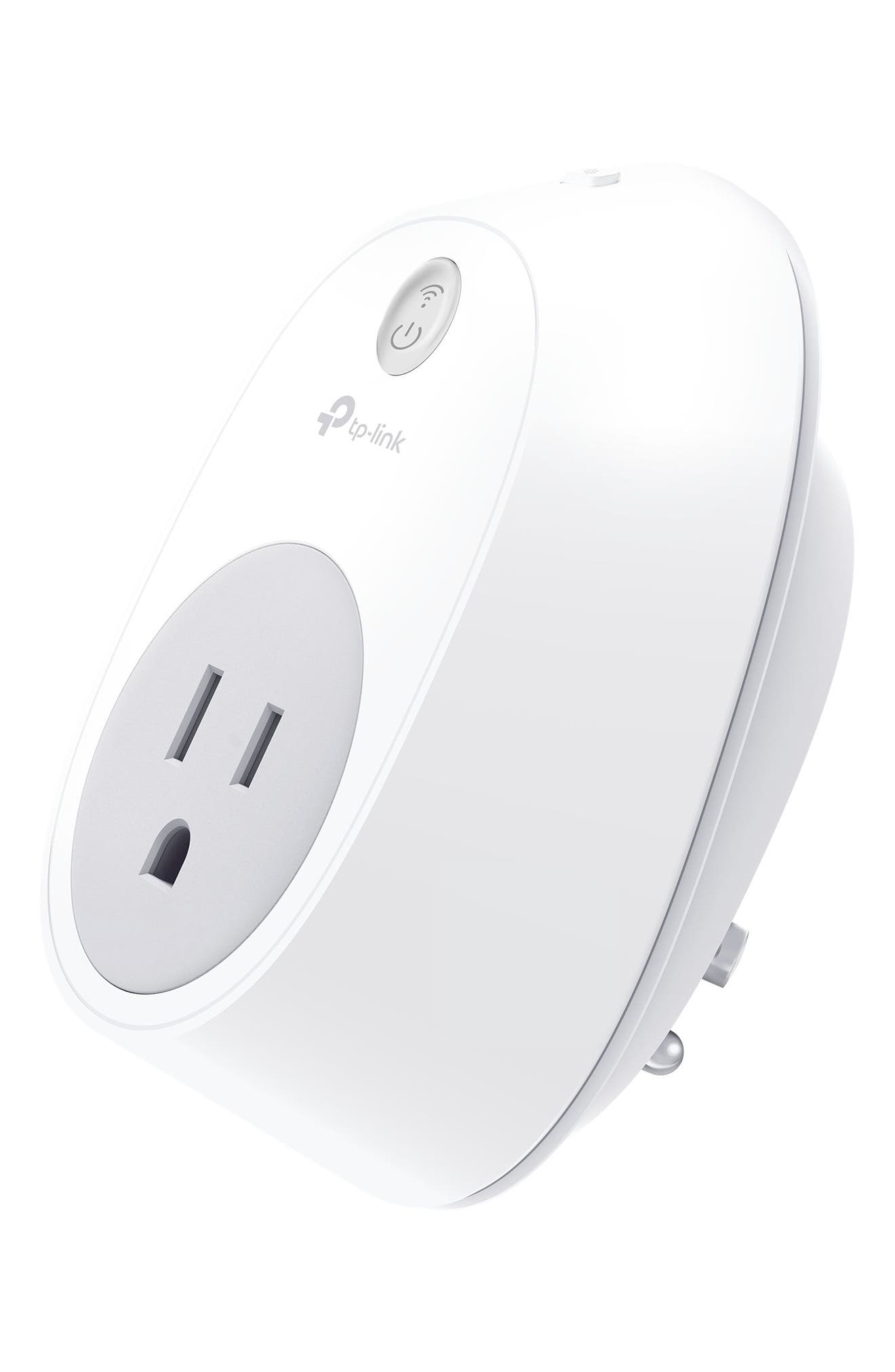 Smart Wi-Fi Outlet Plug,                             Alternate thumbnail 3, color,                             WHITE