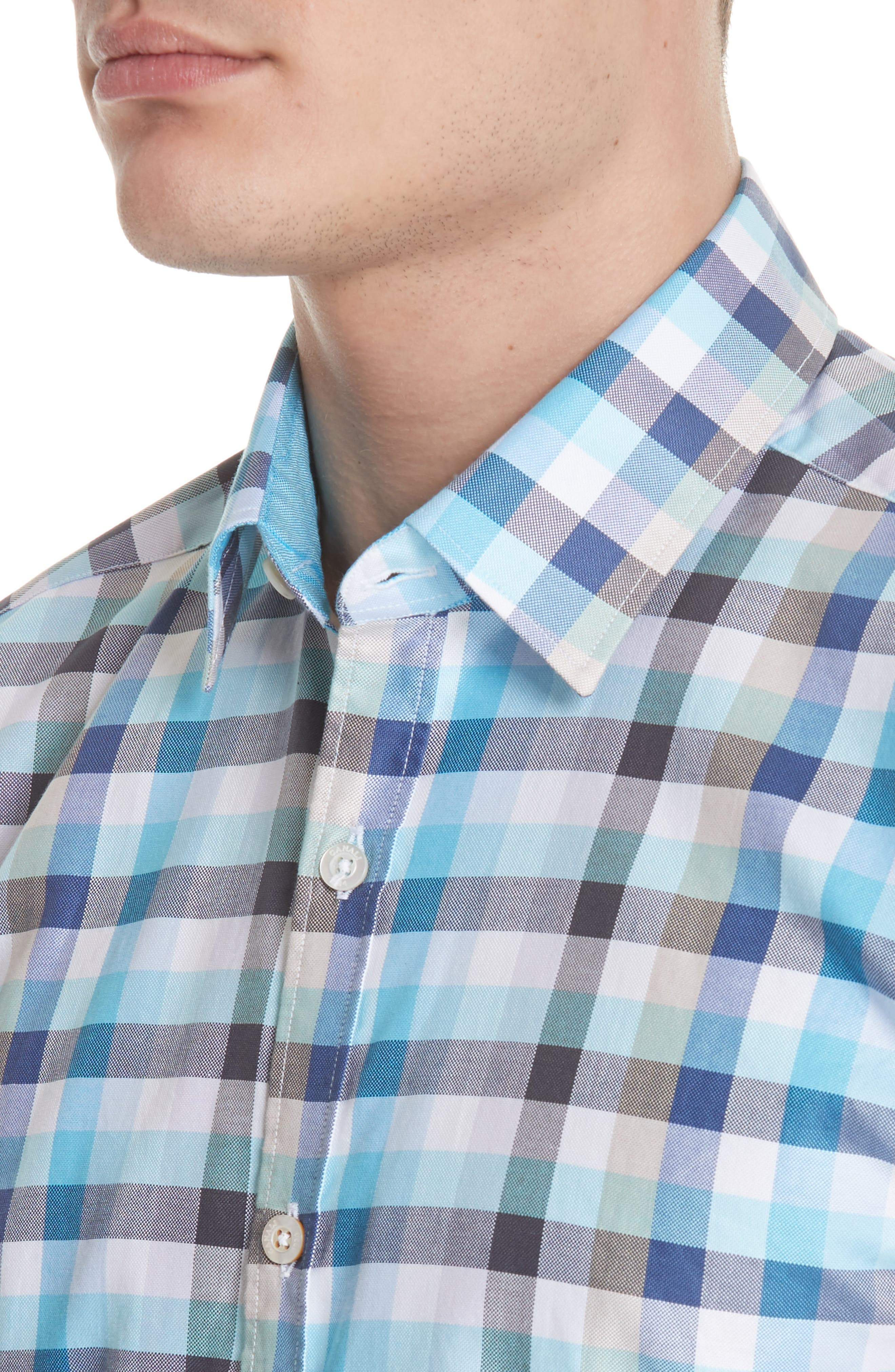 Regular Fit Check Sport Shirt,                             Alternate thumbnail 2, color,