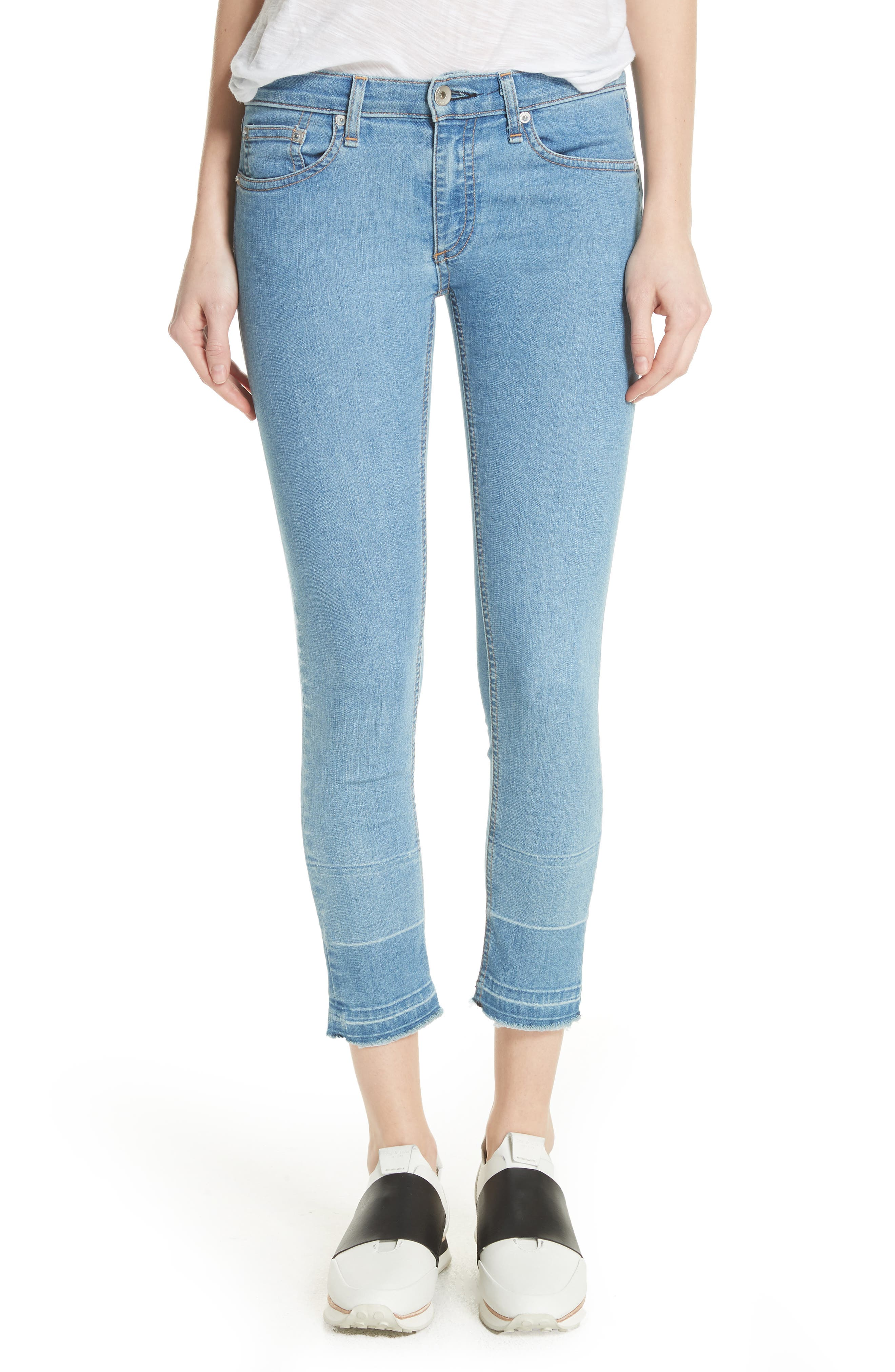JEAN Release Hem Ankle Skinny Jeans,                             Main thumbnail 1, color,                             409