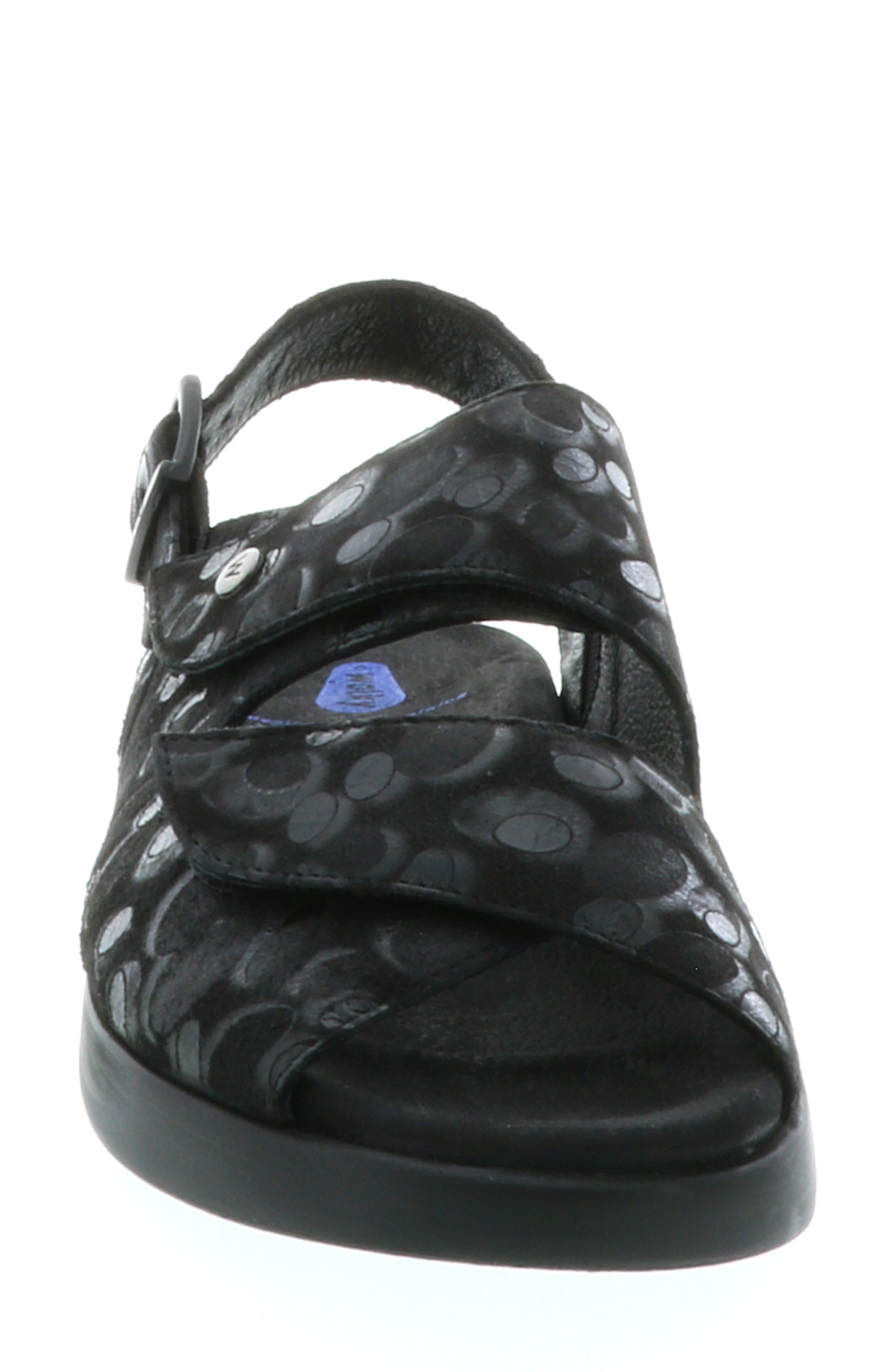 Nimes Sandal,                             Alternate thumbnail 4, color,                             BLACK