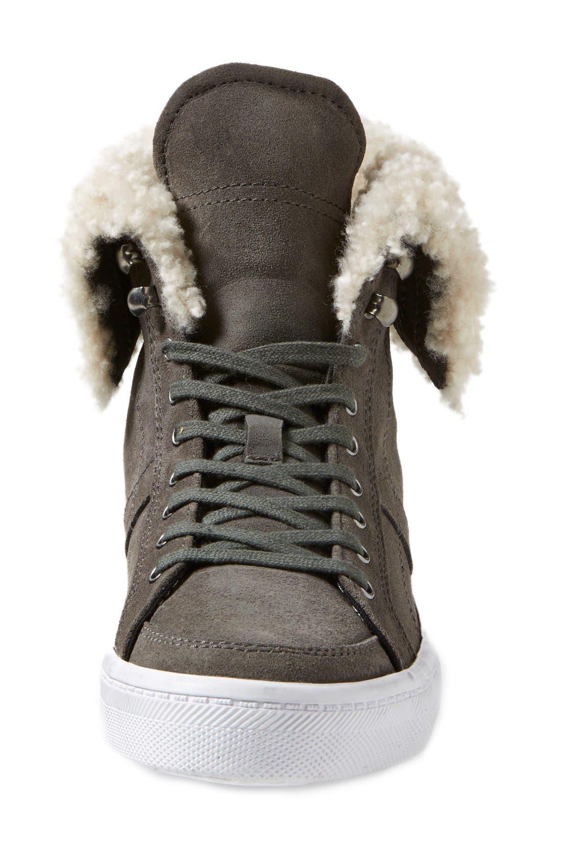 REBECCA MINKOFF,                             'Sasha' Suede High Top Sneaker,                             Alternate thumbnail 2, color,                             020