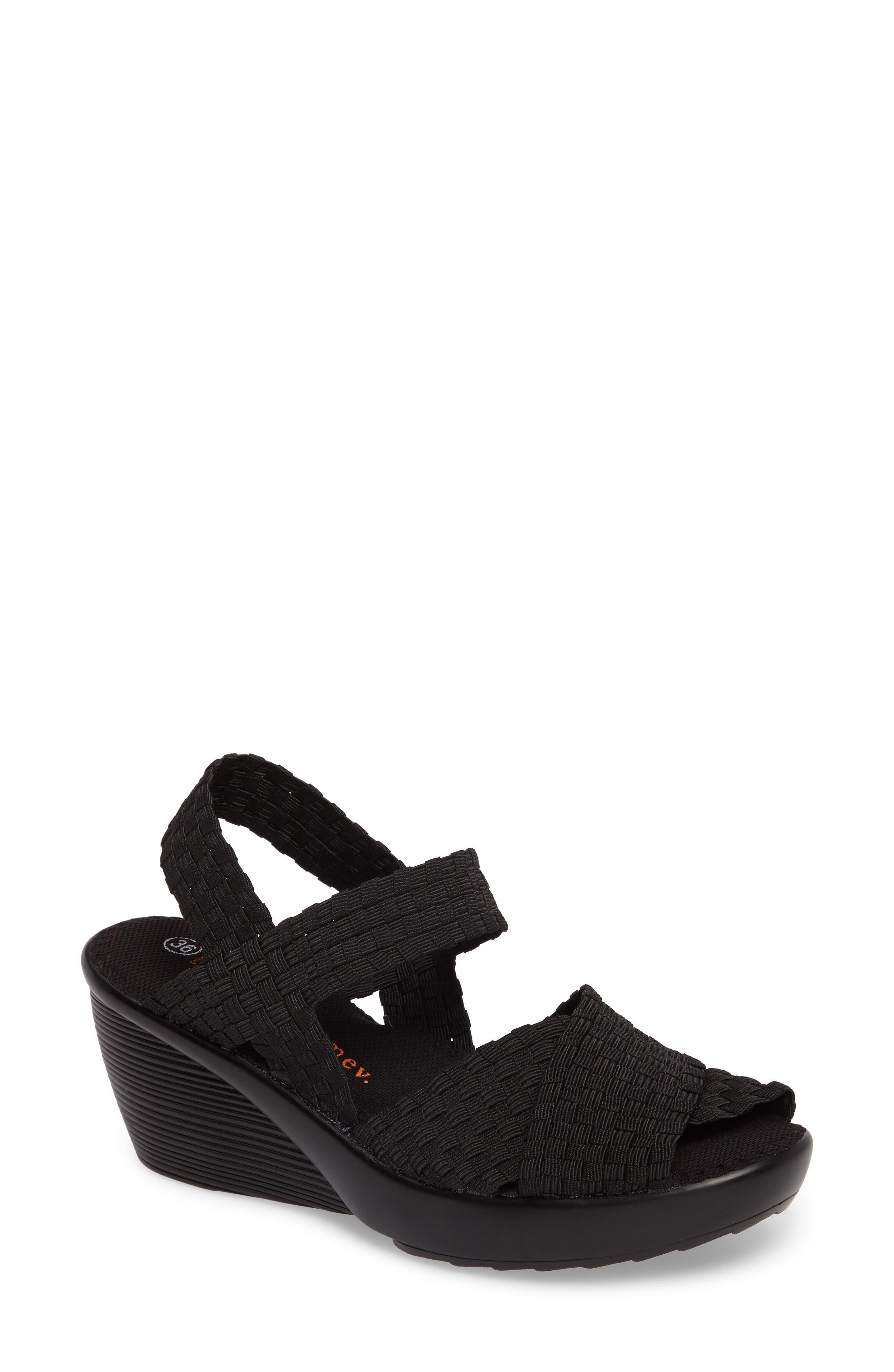 Fresh Buttercup Sandal,                         Main,                         color, BLACK FABRIC