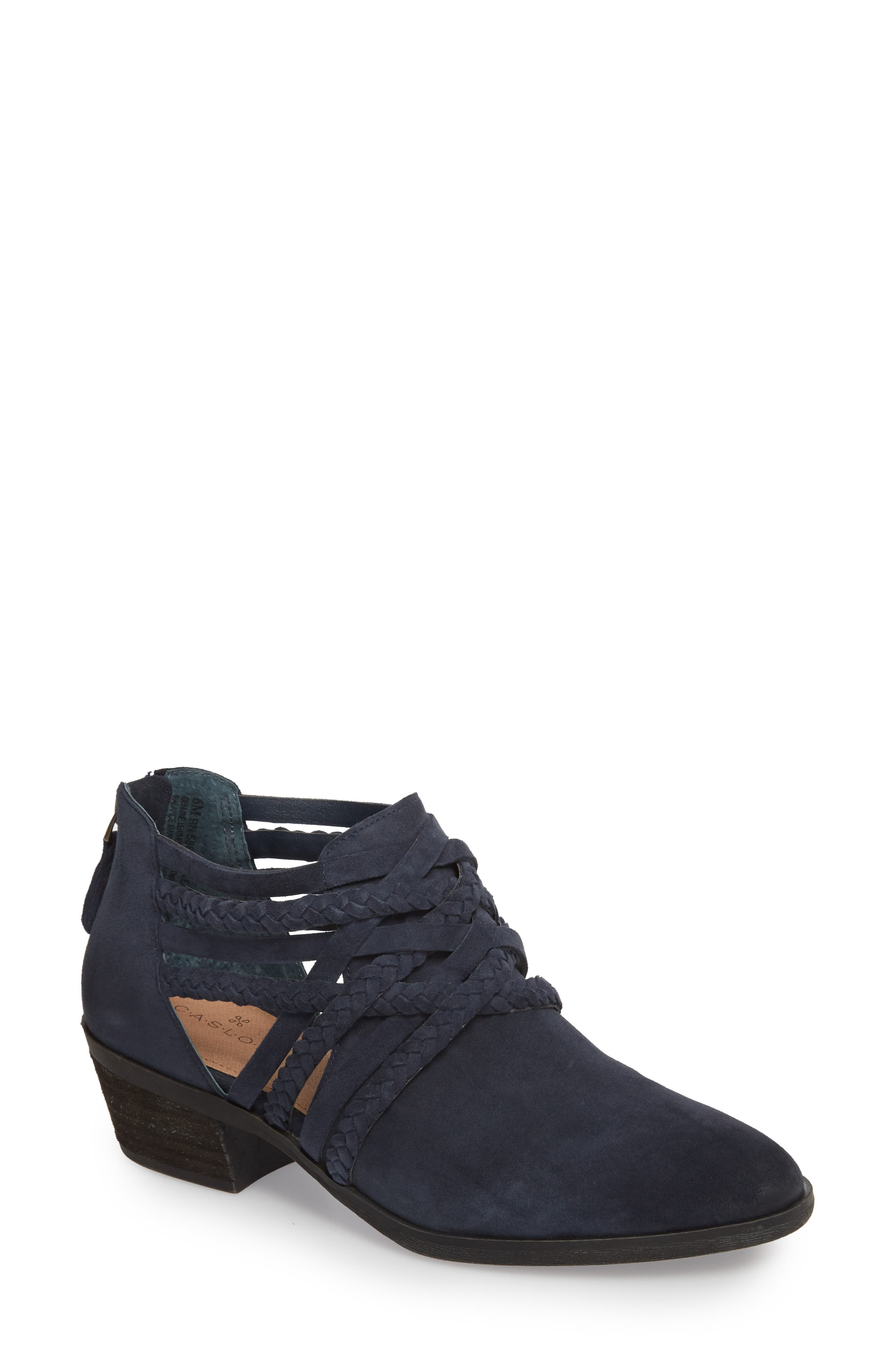 Liam Braided Bootie,                         Main,                         color, NAVY SUEDE