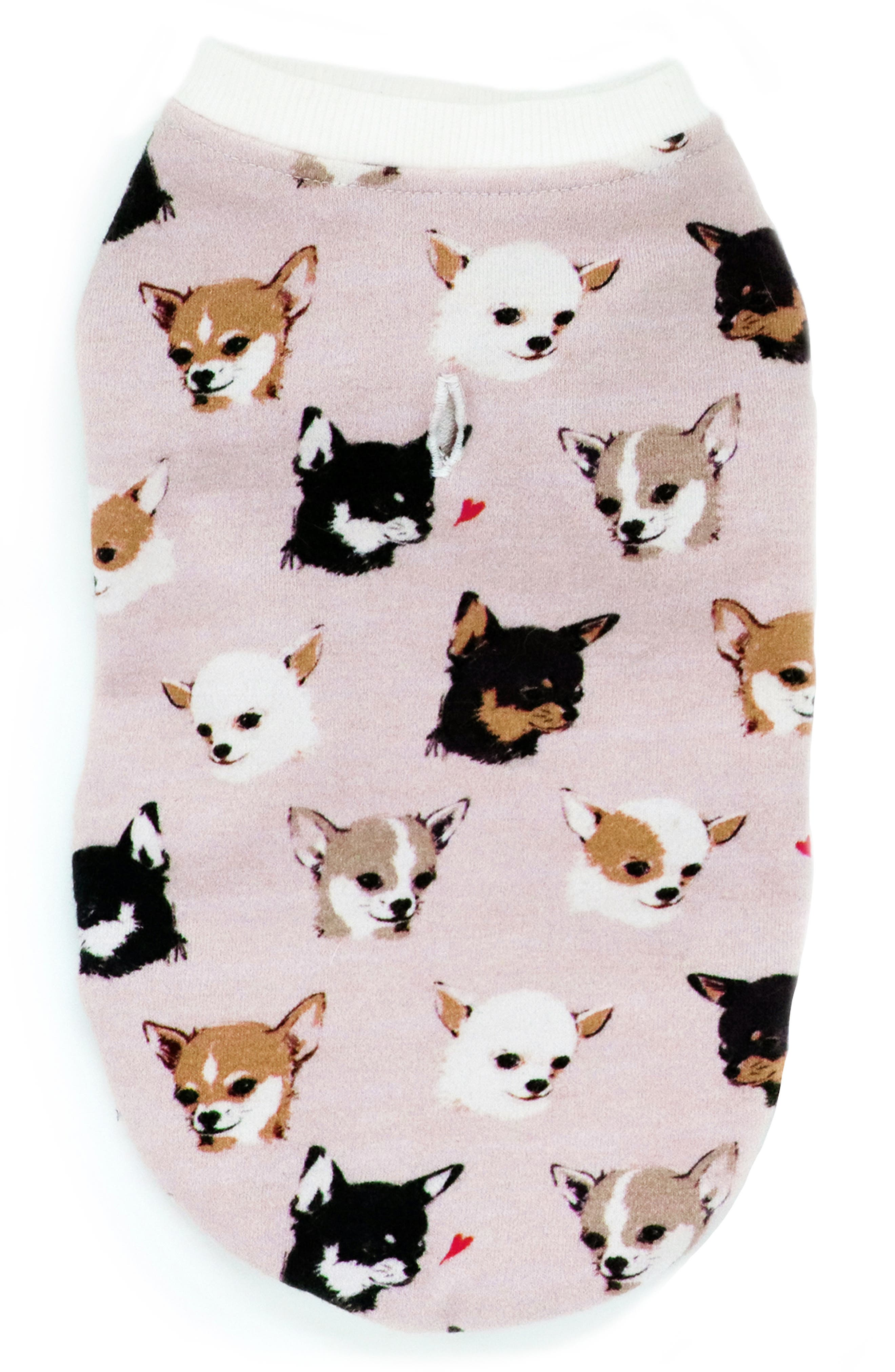 Le Chien Bleu Ny Toulouse Chihuahua Print Dog Sweater Nordstrom