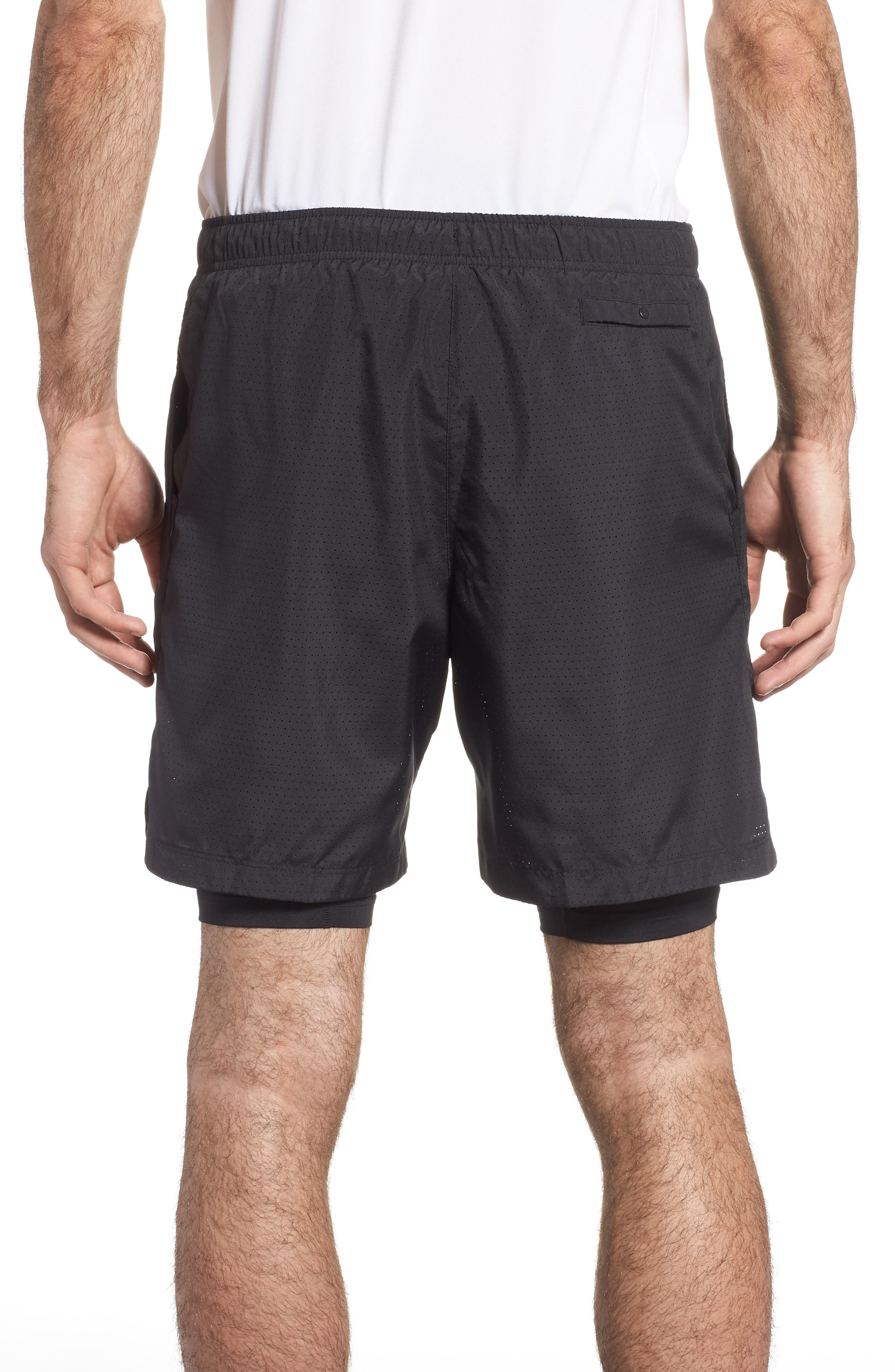Running Challenger 2-in-1 Shorts,                             Alternate thumbnail 2, color,                             BLACK/ BLACK