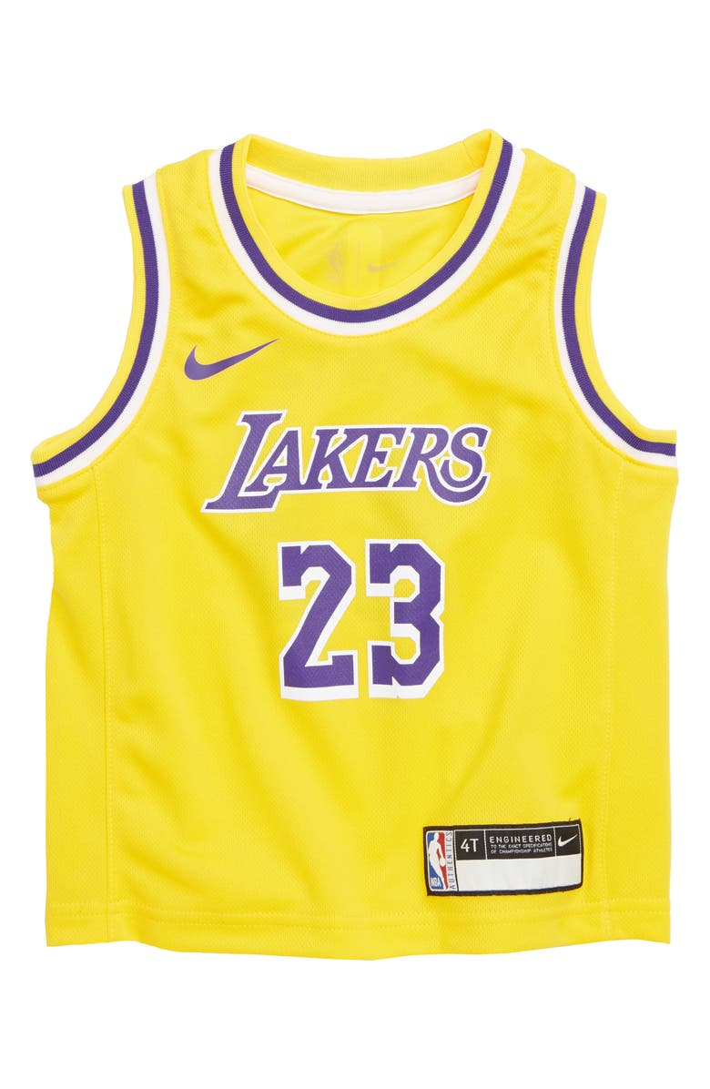 Nike Los Angeles Lakers LeBron James Basketball Jersey (Toddler Boys ... 42764fe706df