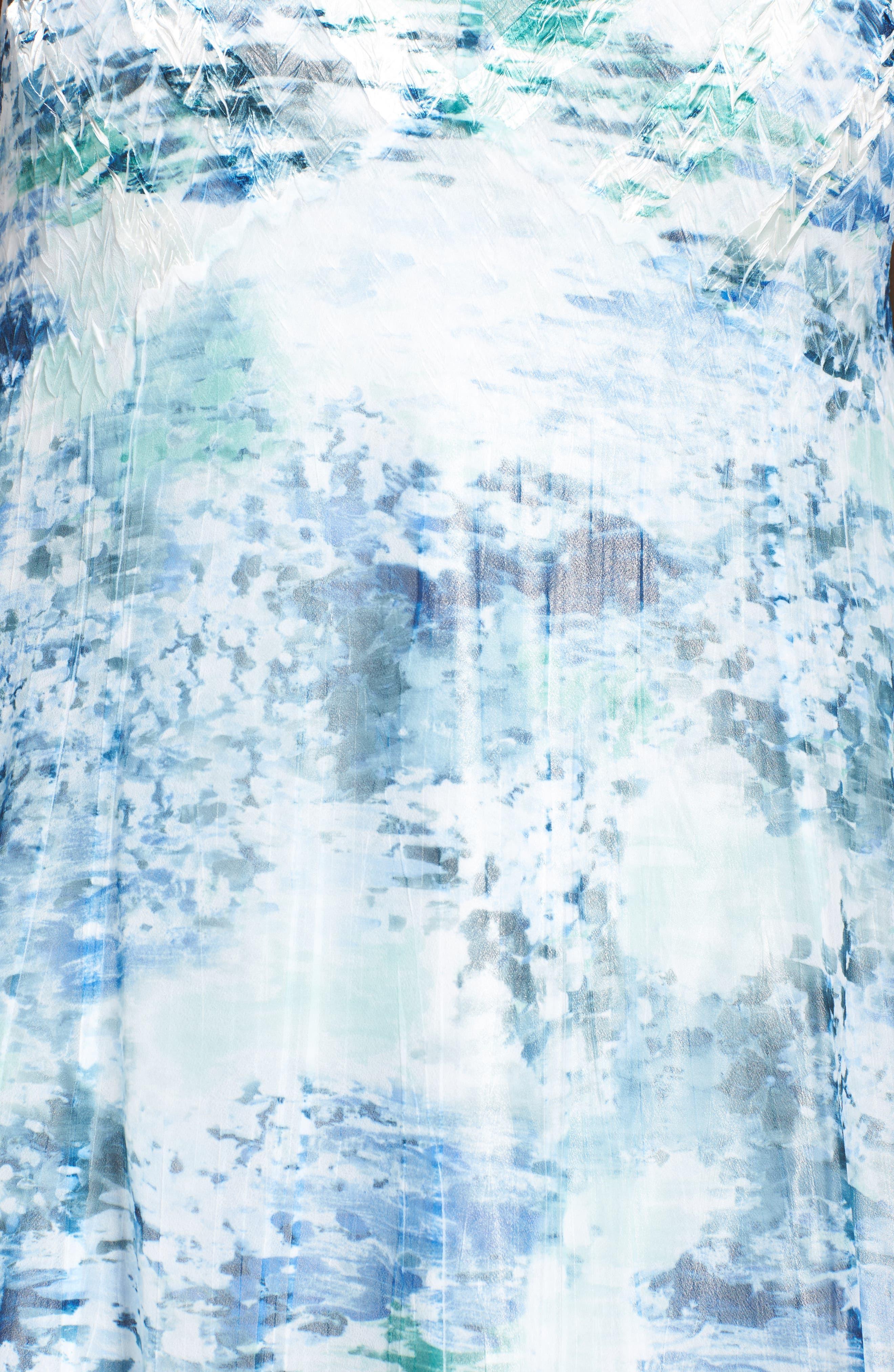 Print Chiffon A-Line Dress,                             Alternate thumbnail 5, color,                             469