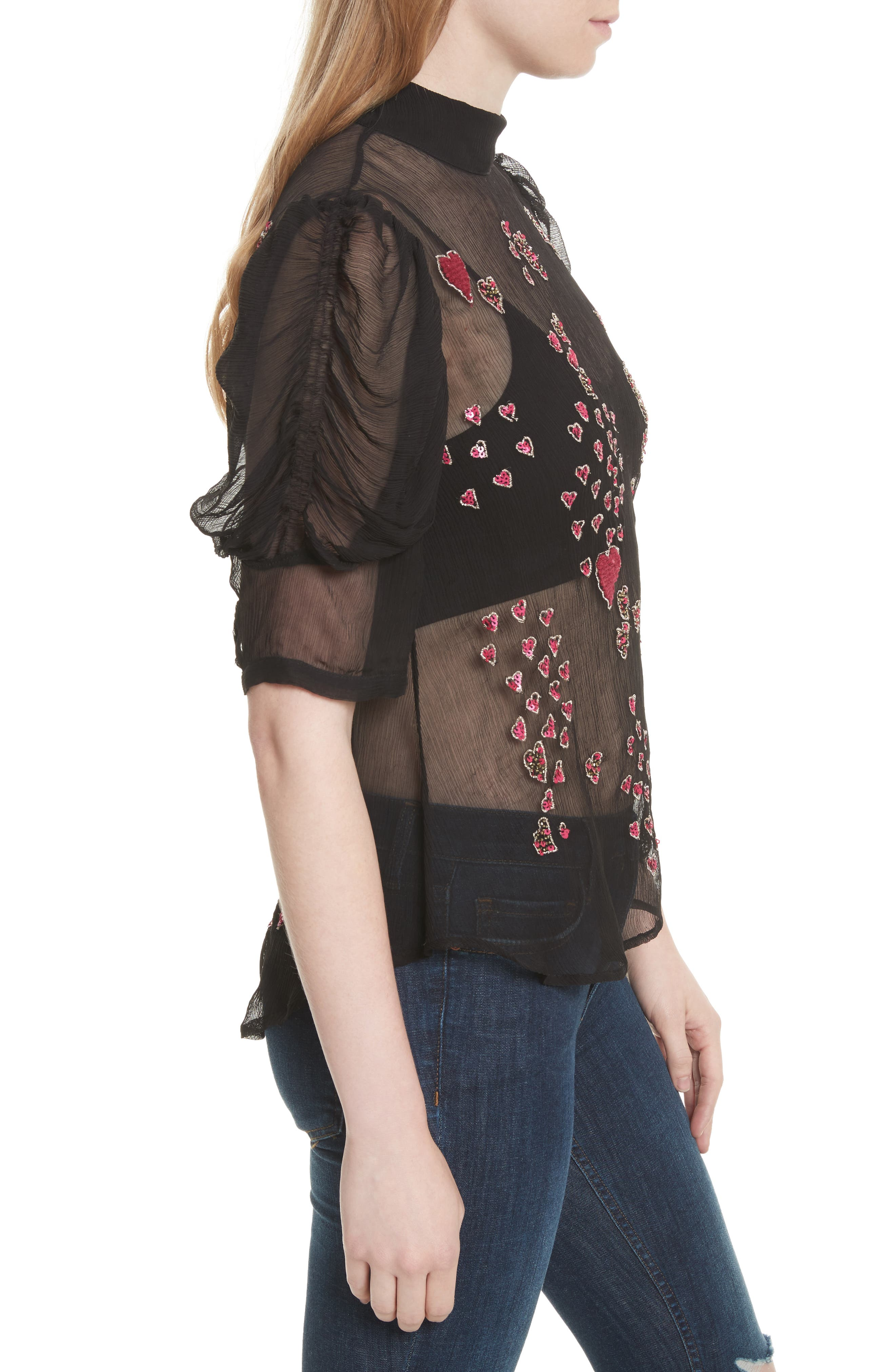 So in Love Embroidered Blouse,                             Alternate thumbnail 3, color,                             001