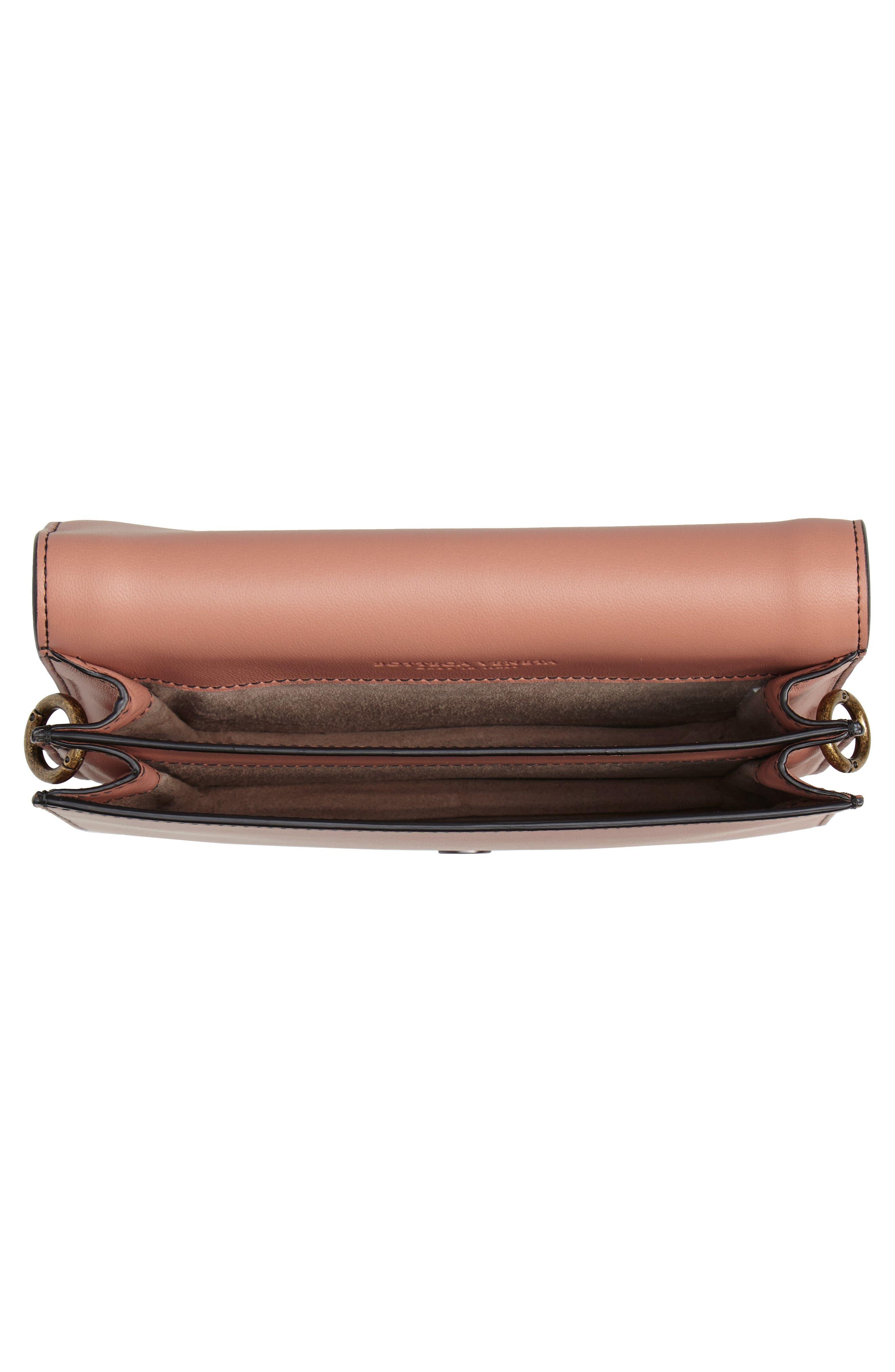 Mini Motobello Genuine Snakeskin & Leather Wallet on a Chain,                             Alternate thumbnail 4, color,                             566