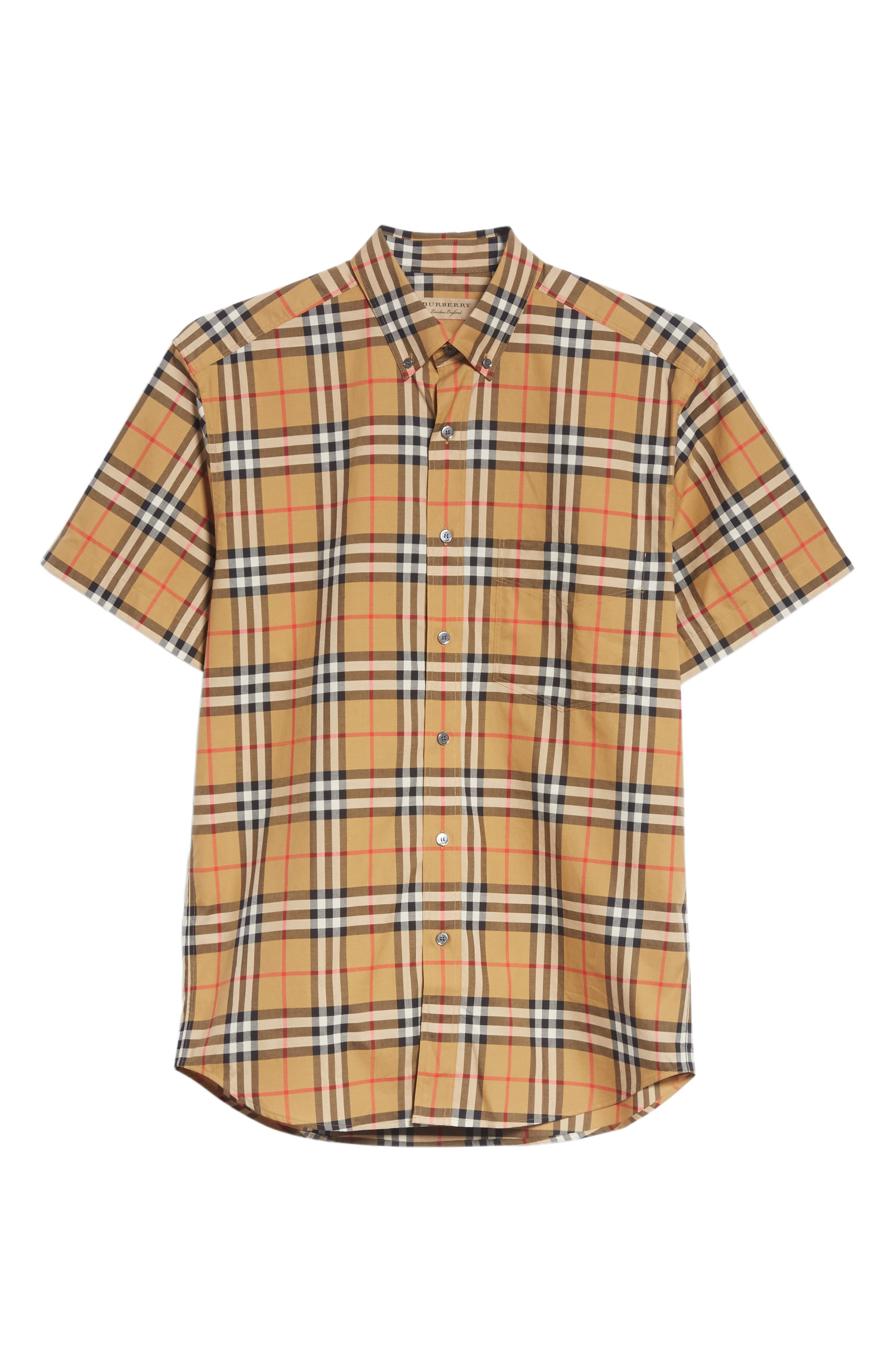 Jameson Woven Check Sport Shirt,                             Alternate thumbnail 6, color,                             ANTIQUE YELLOW