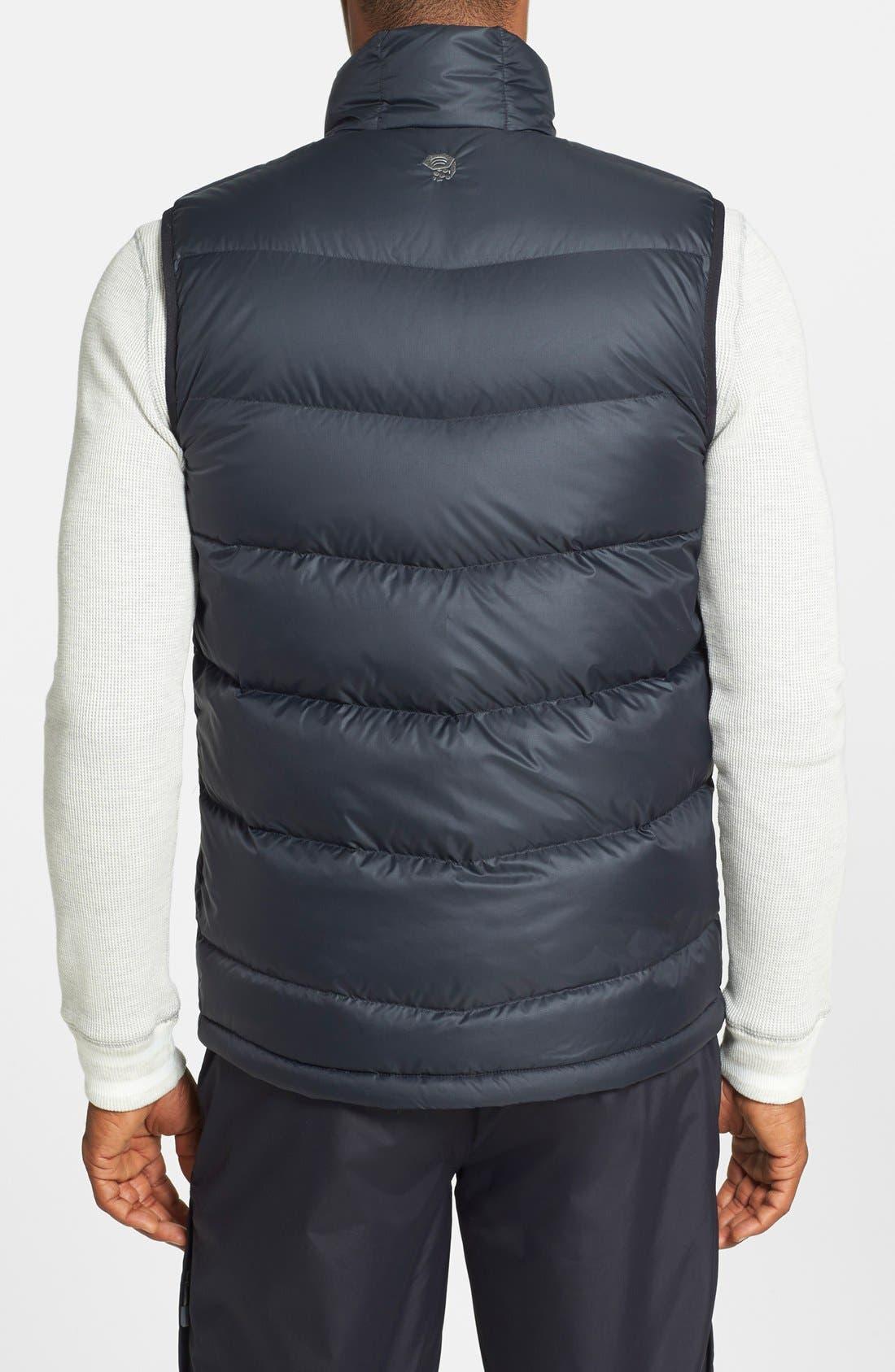 'Ratio' Water Resistant Goose Down Vest,                             Alternate thumbnail 3, color,                             001