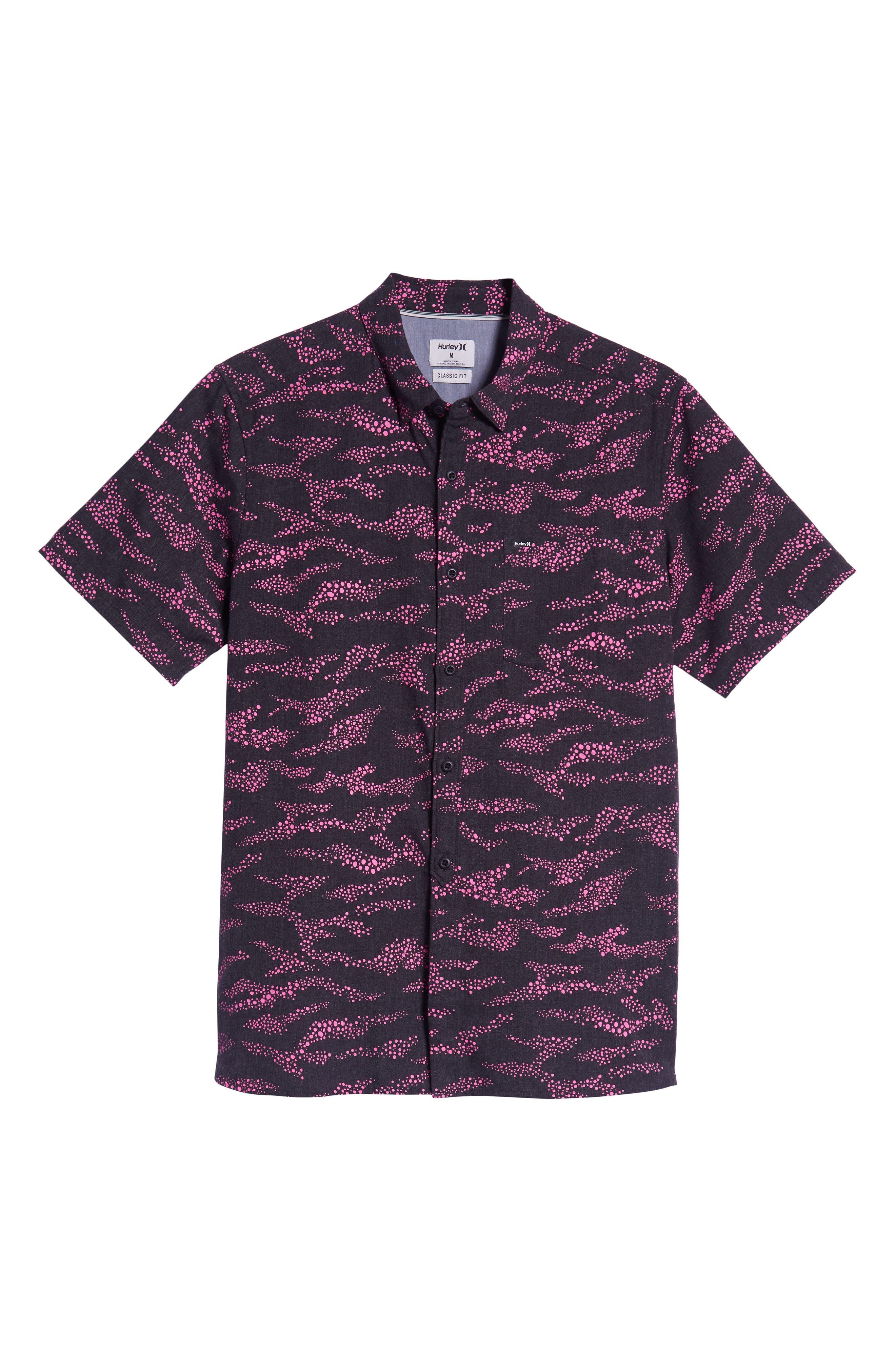 Outcast Woven Shirt,                             Alternate thumbnail 5, color,                             BLACK HEATHER