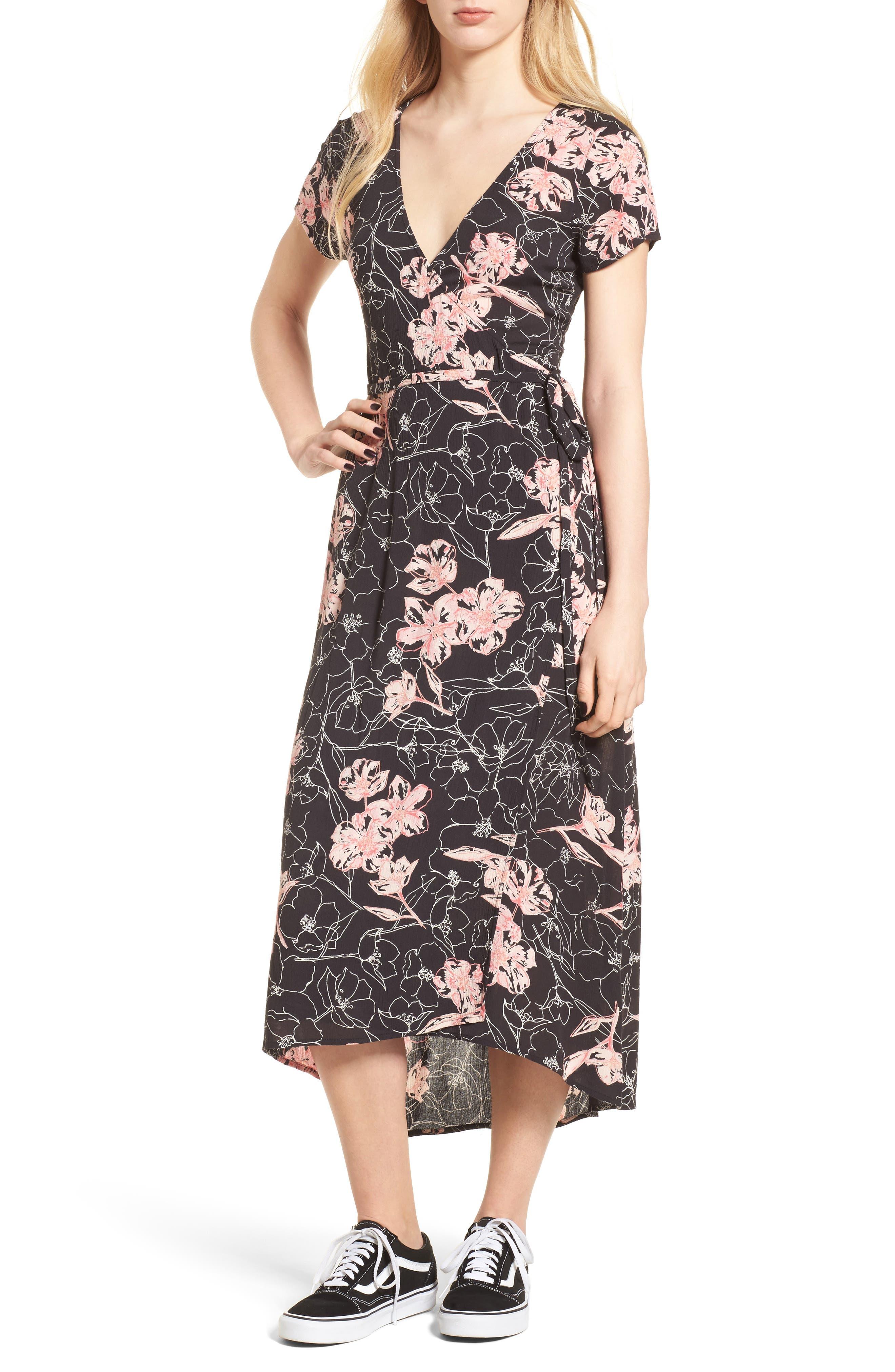 Wrap Me Up Midi Dress,                             Main thumbnail 1, color,                             001