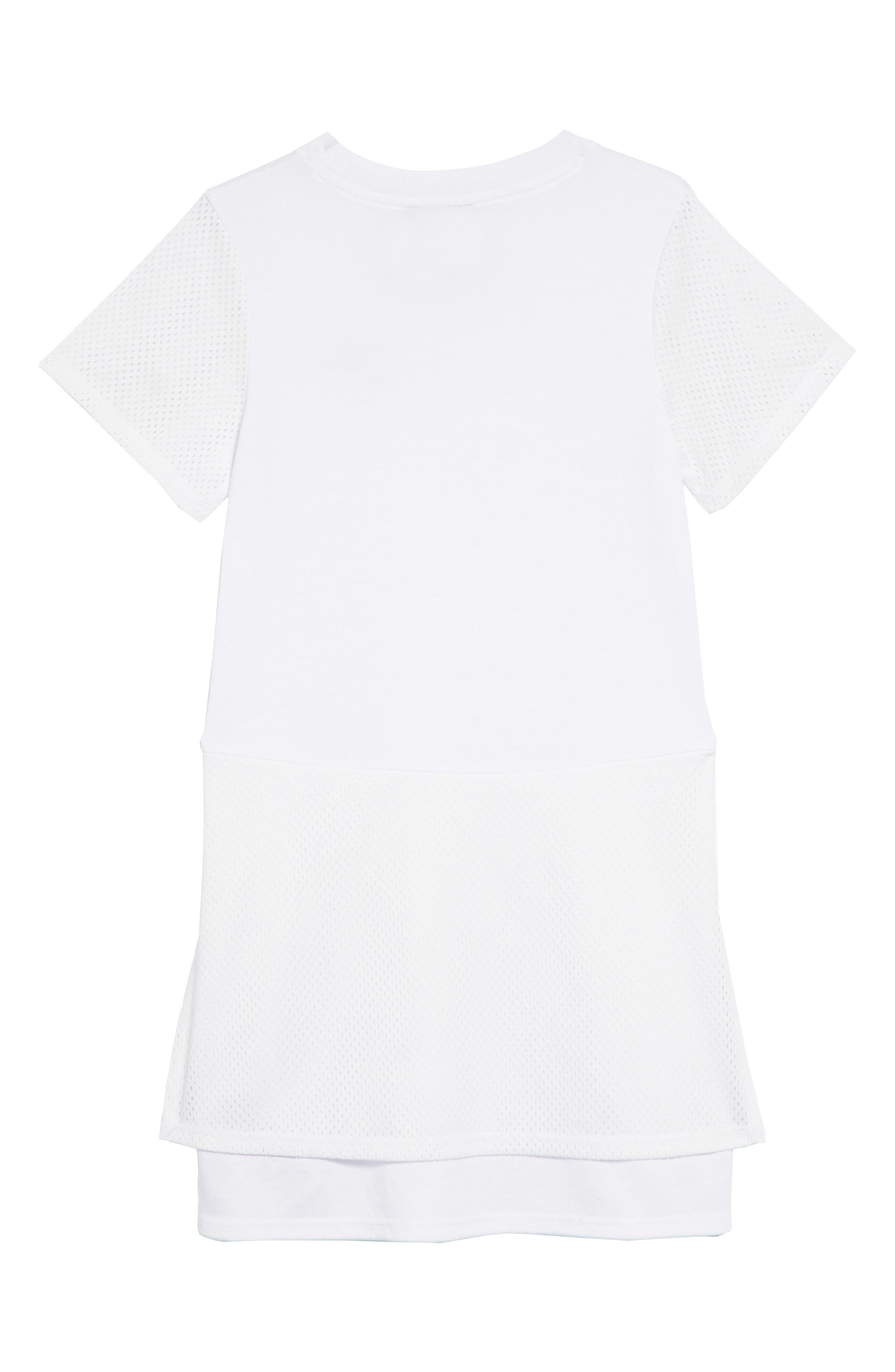 Mesh Trim Dress,                             Alternate thumbnail 2, color,                             100