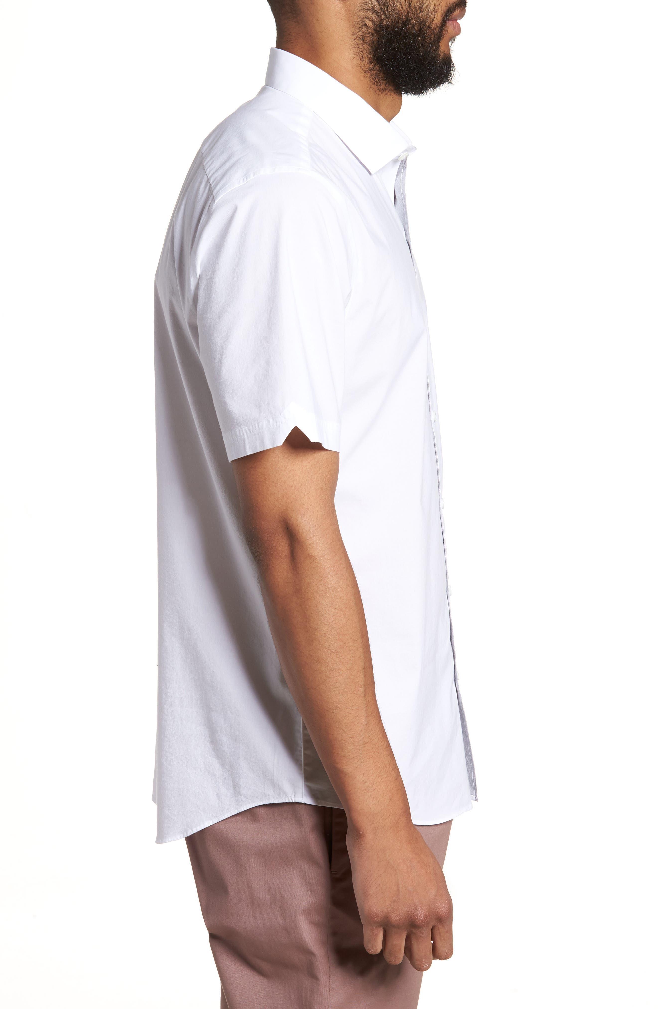 Baumann Slim Fit Sport Shirt,                             Alternate thumbnail 3, color,                             100