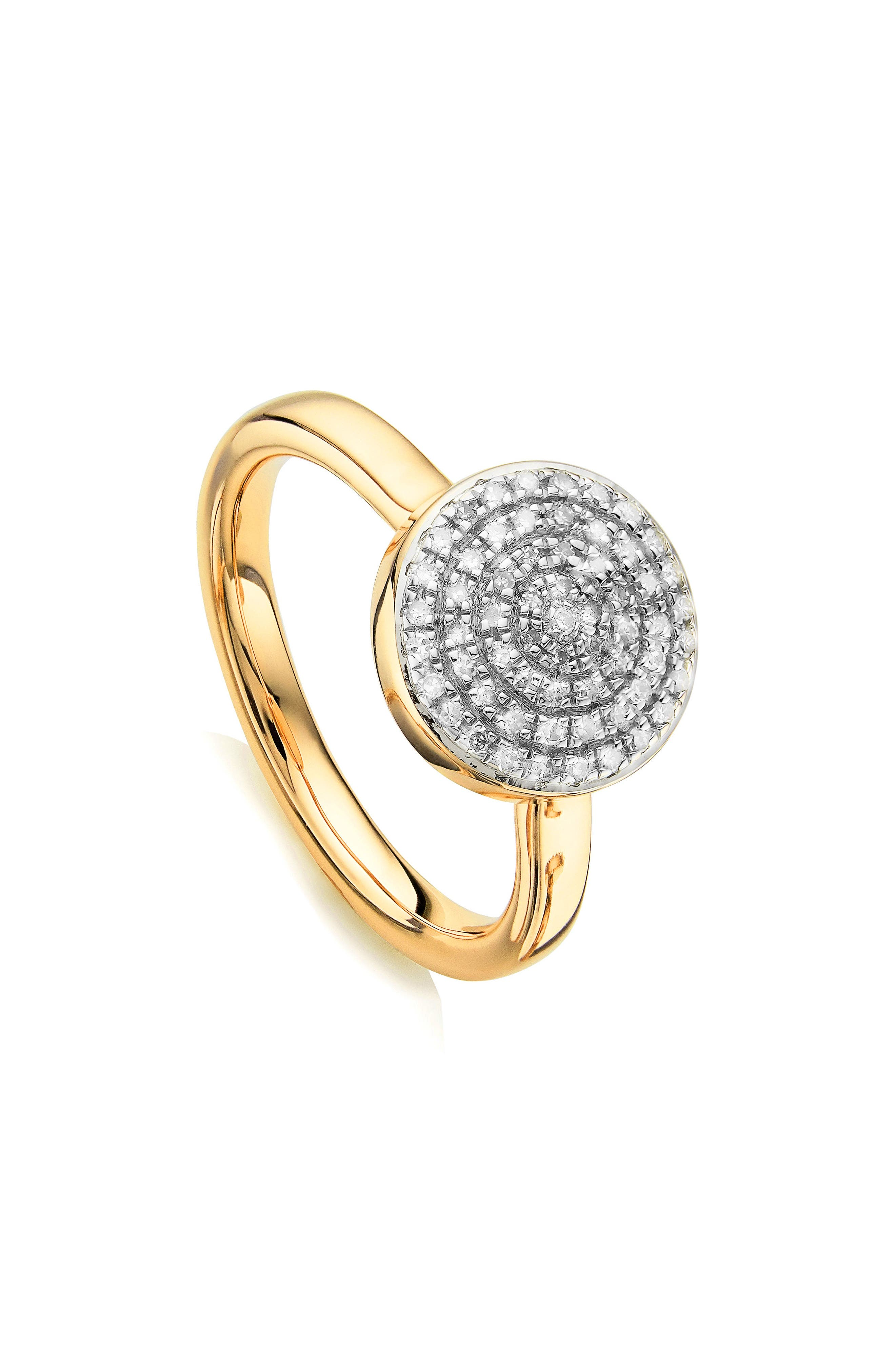 Fiji Large Diamond Button Stack Ring,                             Main thumbnail 1, color,                             GOLD