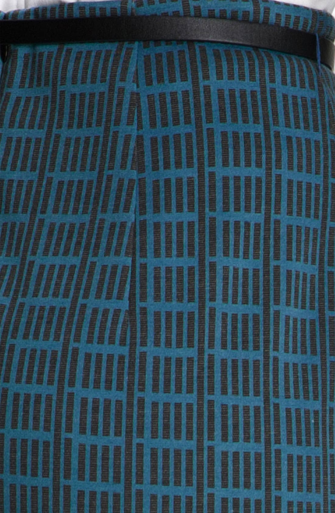 Belted Ponte Skirt,                             Alternate thumbnail 49, color,