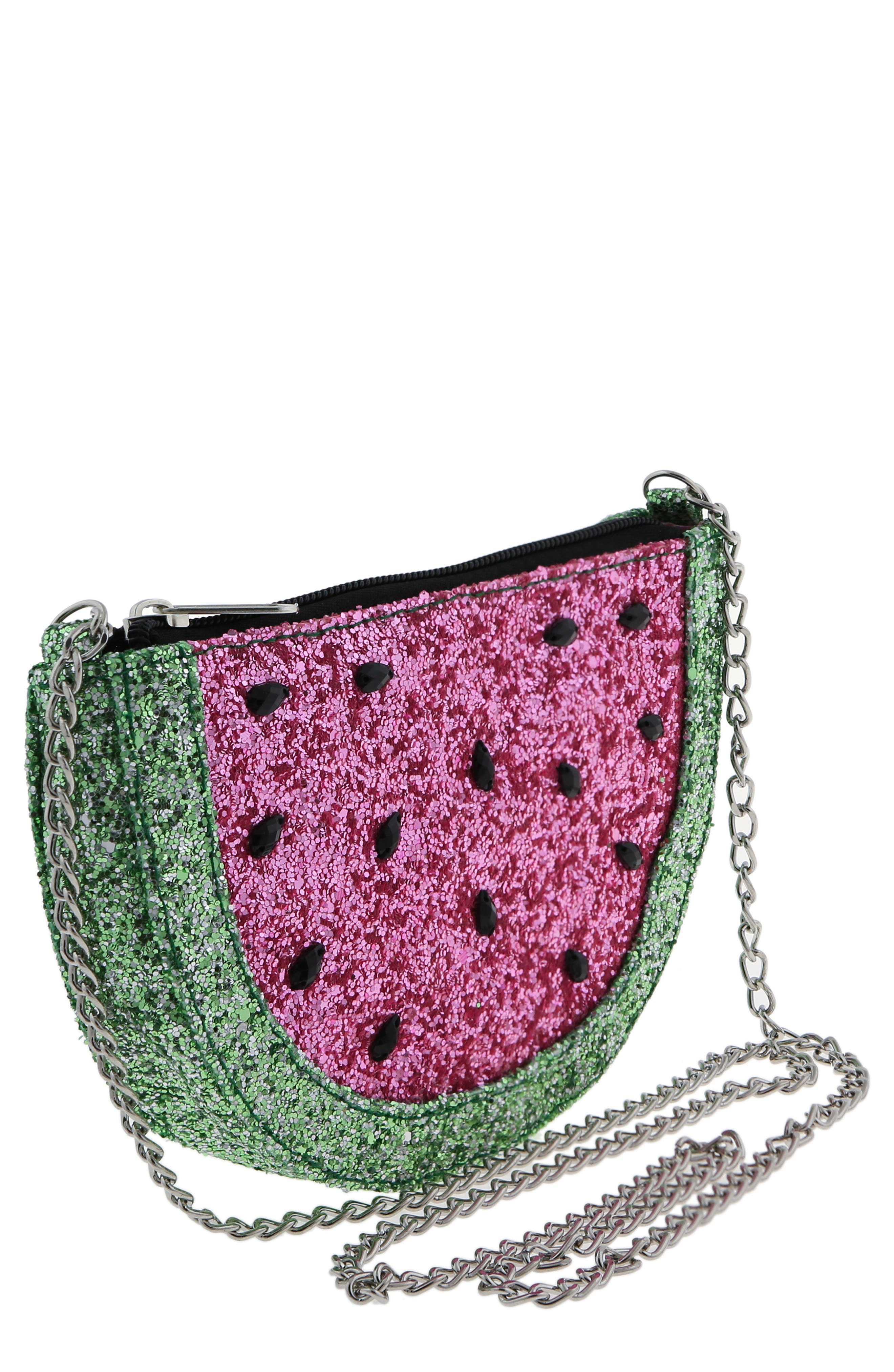 Glitter Watermelon Crossbody Bag,                             Main thumbnail 1, color,                             MULTI CO