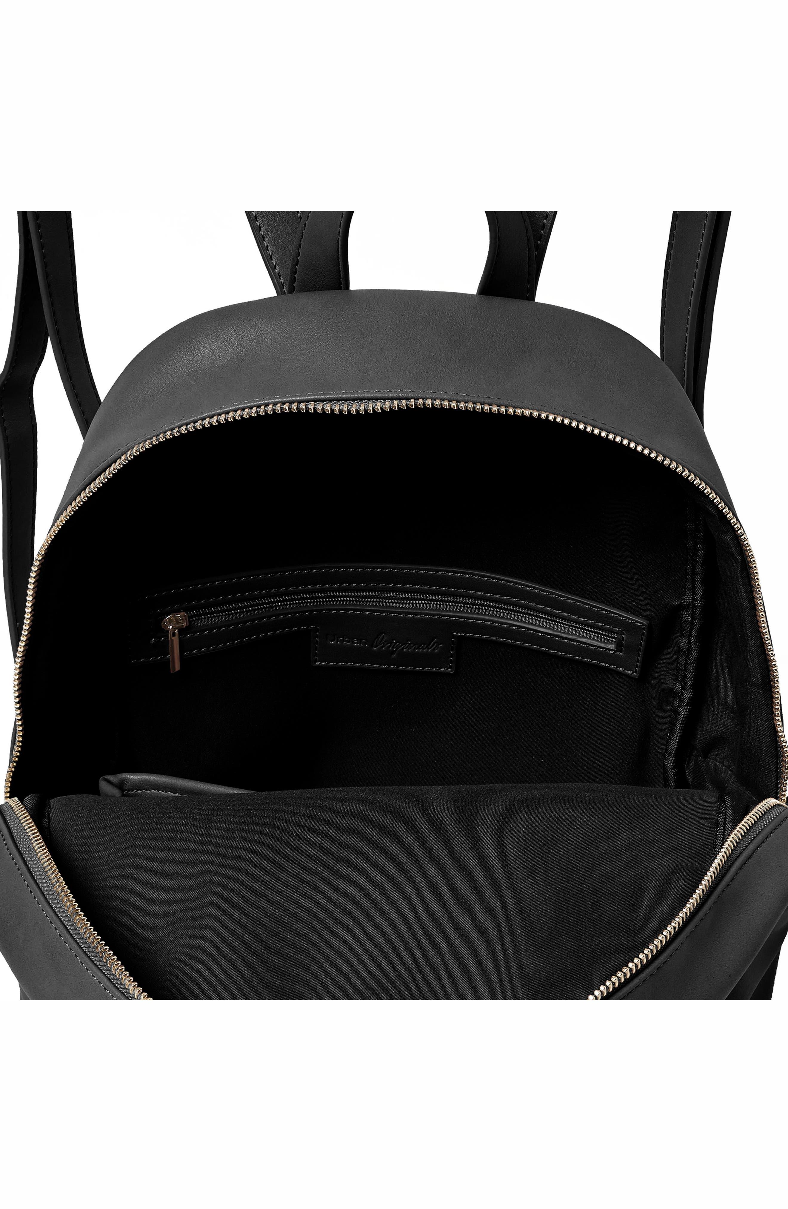 Sublime Vegan Leather Backpack,                             Alternate thumbnail 3, color,                             001
