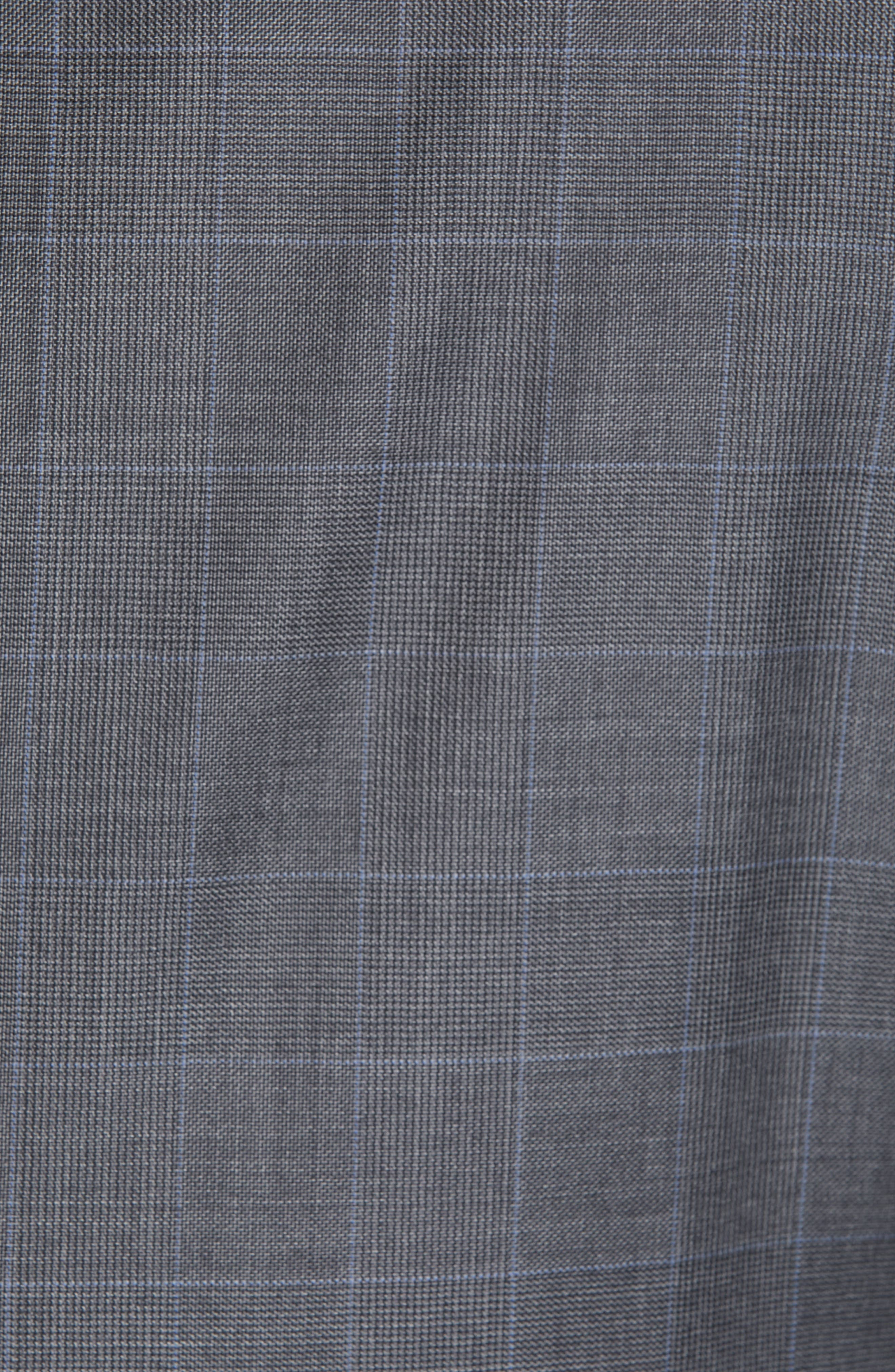 Sienna Classic Fit Plaid Wool Suit,                             Alternate thumbnail 7, color,                             GREY