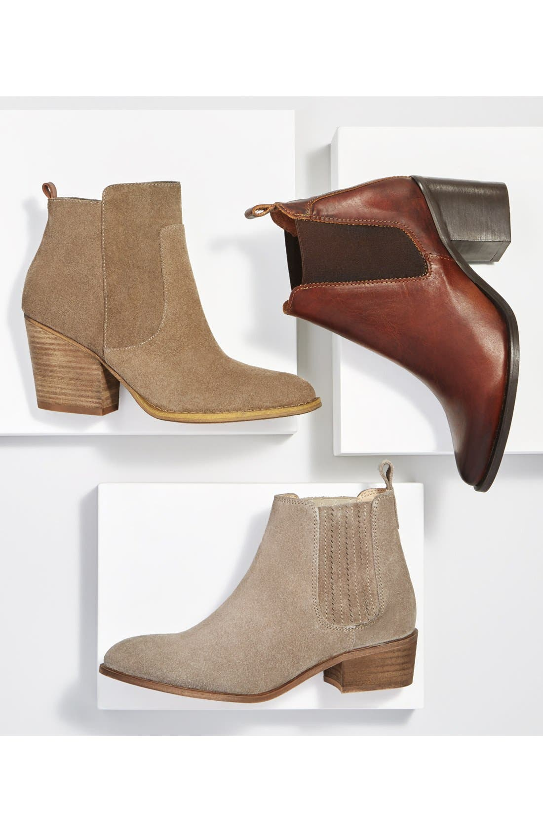 'Winsor' Block Heel Bootie,                             Alternate thumbnail 6, color,                             001