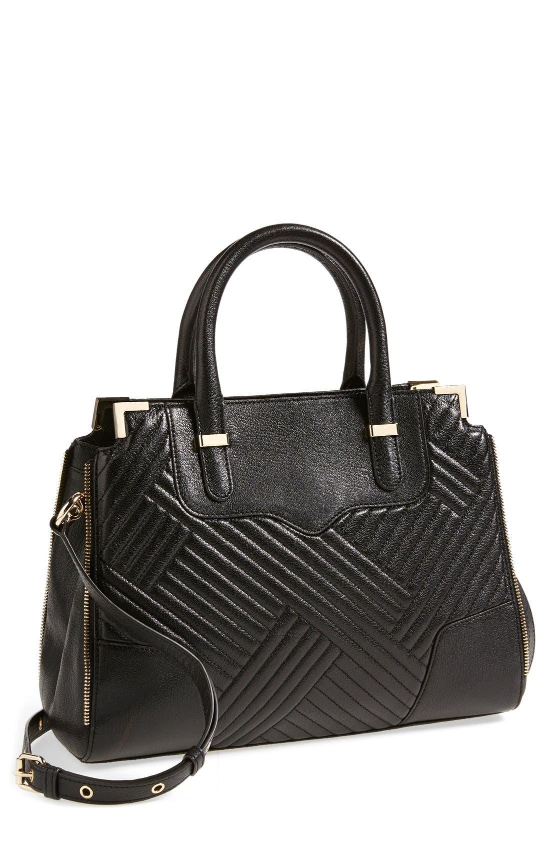 'Amorous' Quilted Satchel,                             Main thumbnail 1, color,