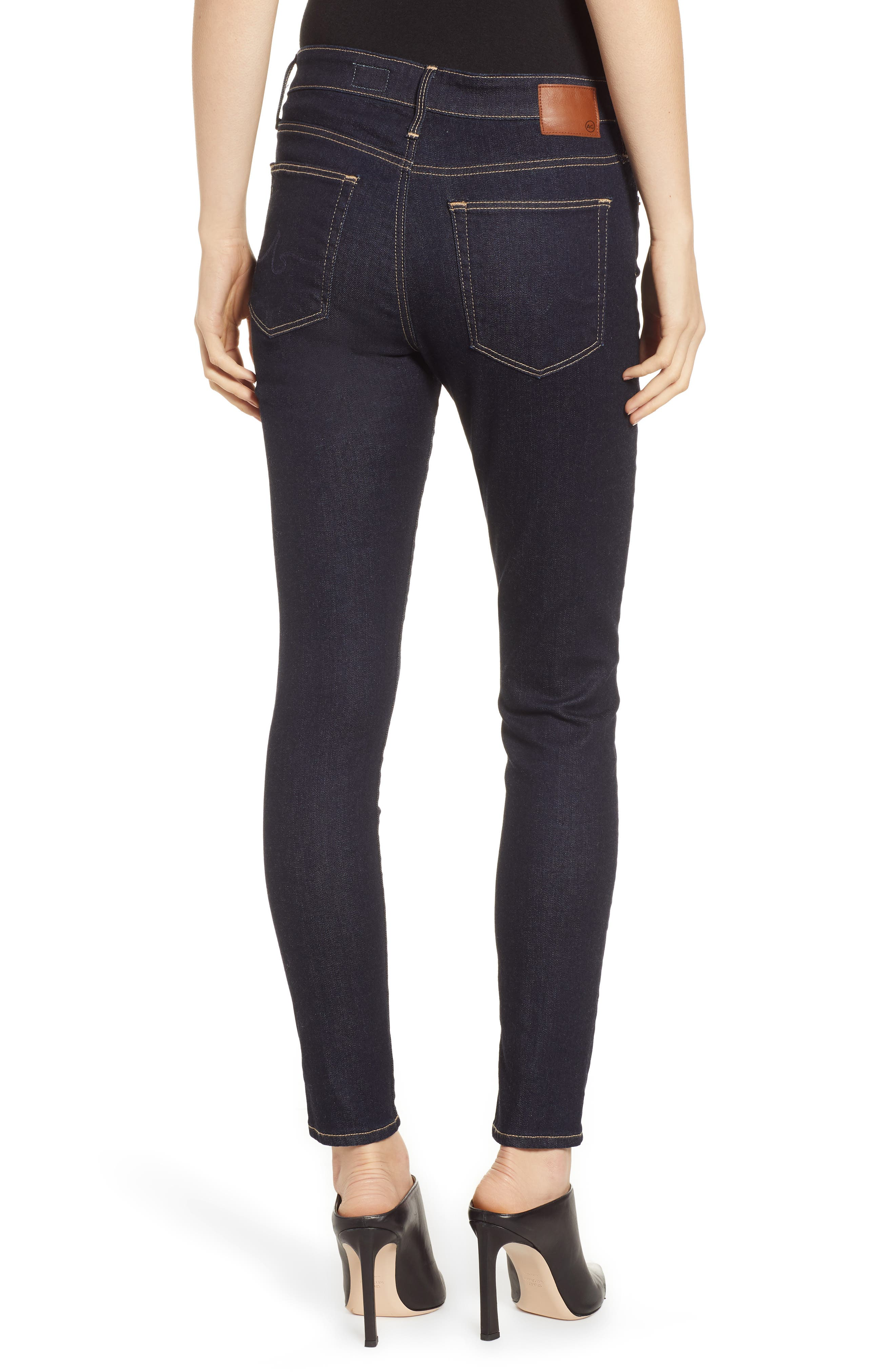 The Farrah Ankle Skinny Jeans,                             Alternate thumbnail 2, color,                             INDIGO SPRING