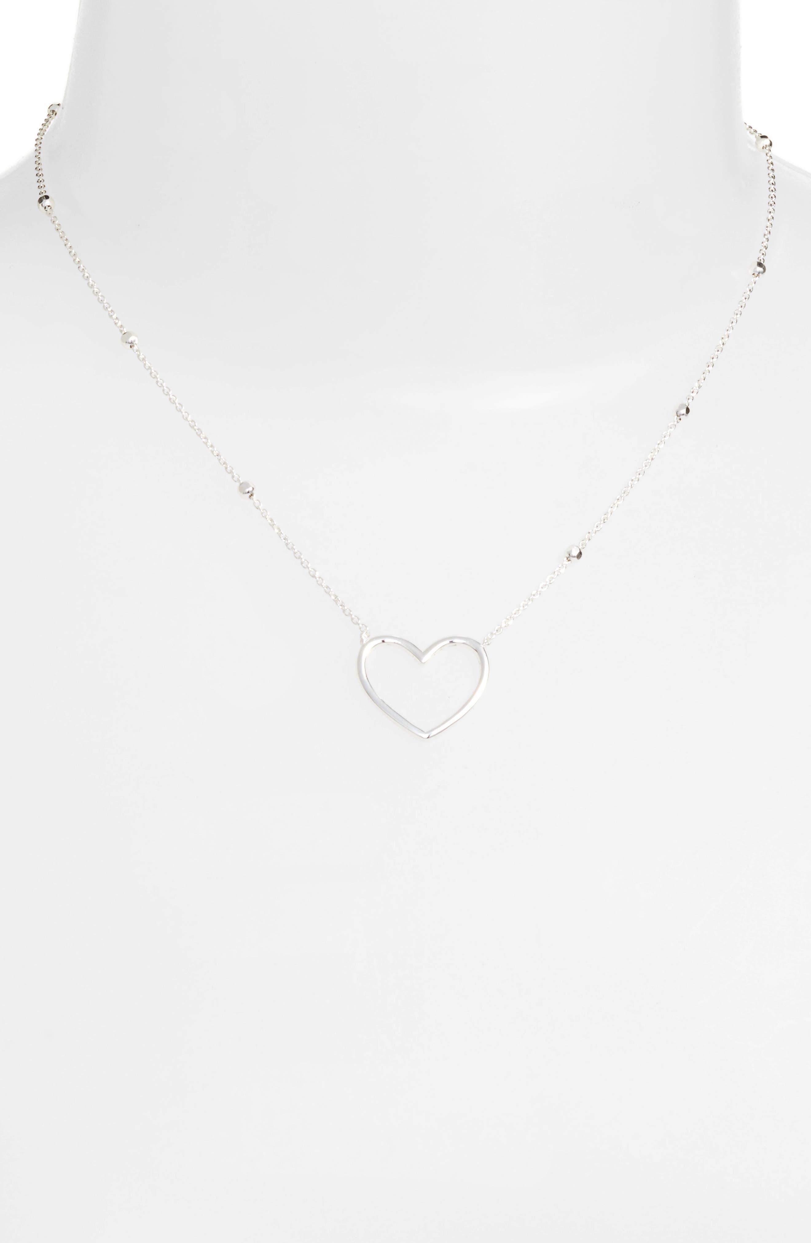 Heart Pendant Necklace,                             Alternate thumbnail 4, color,