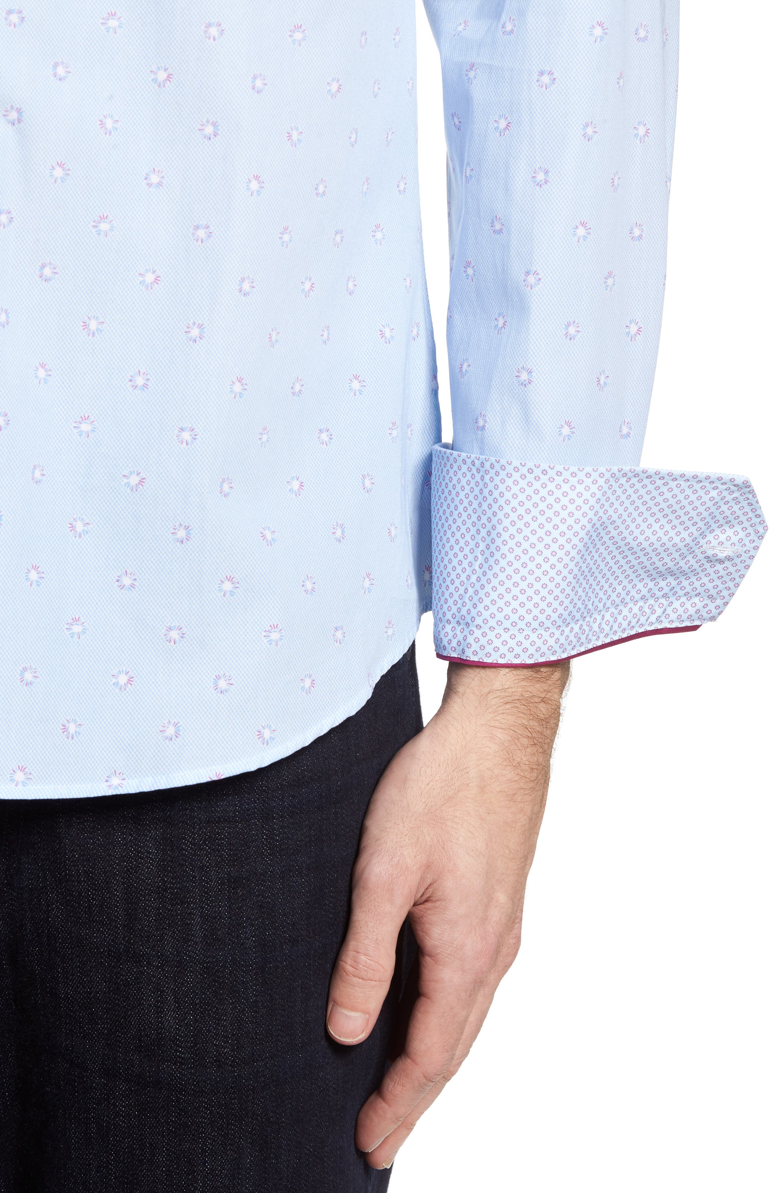 Slim Fit Dot Sport Shirt,                             Alternate thumbnail 4, color,