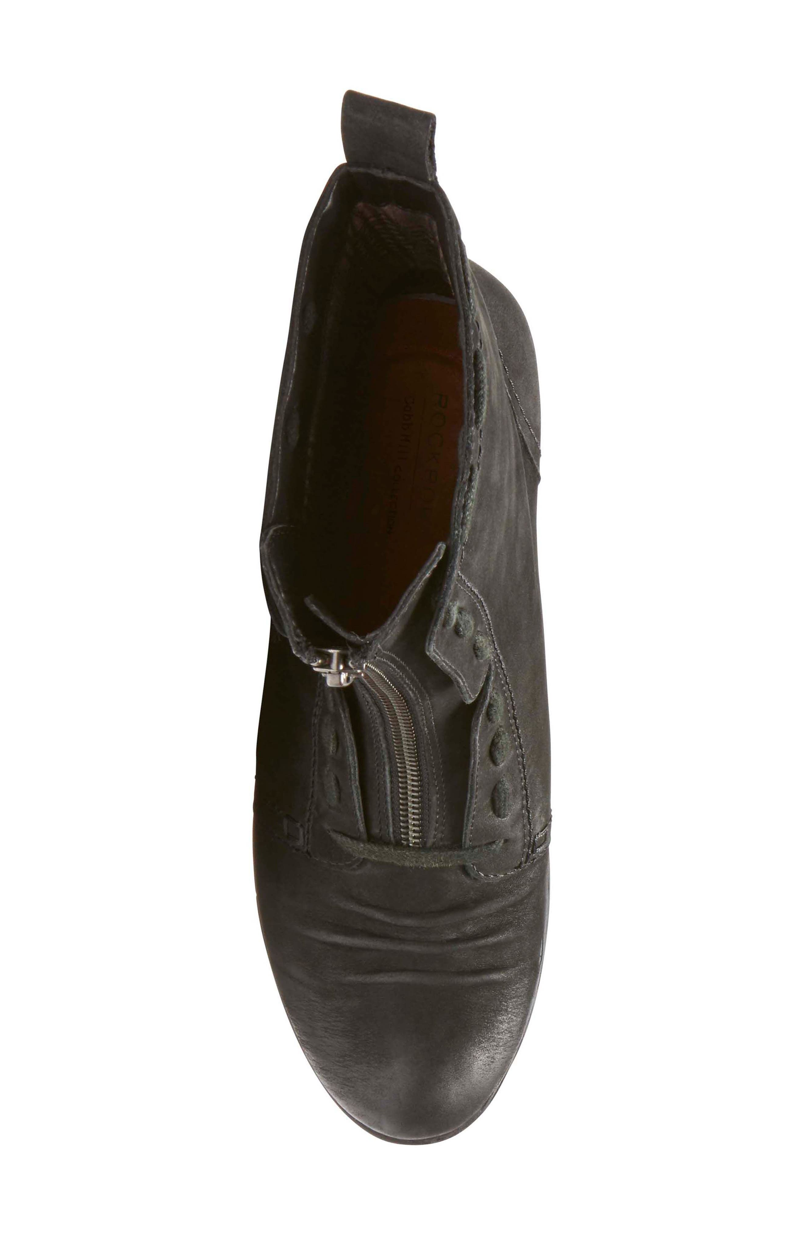 Gratasha Front Zip Boot,                             Alternate thumbnail 5, color,                             BLACK NUBUCK