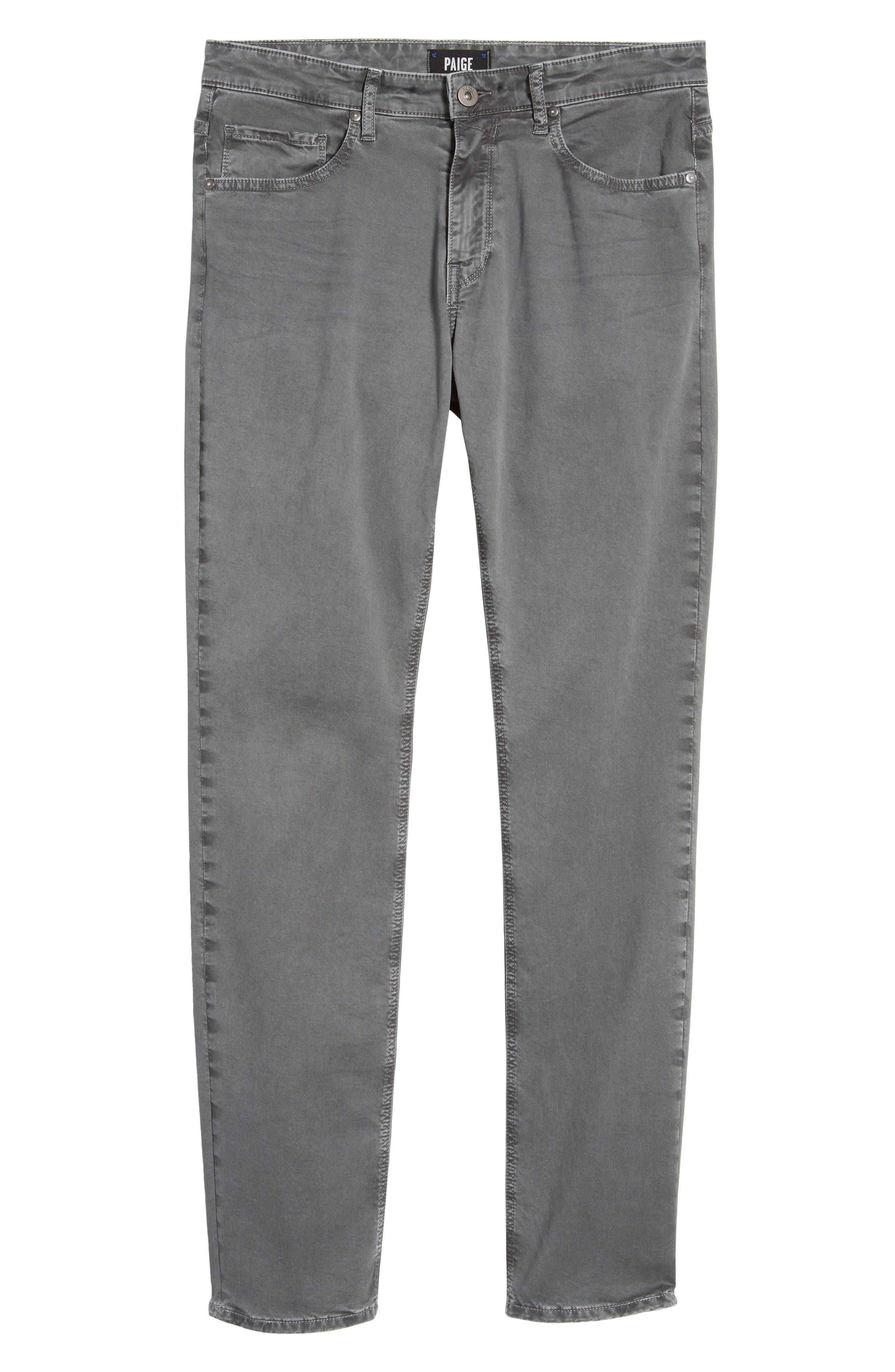 Lennox Slim Fit Five-Pocket Pants,                             Alternate thumbnail 6, color,                             VINTAGE THUNDER GREY