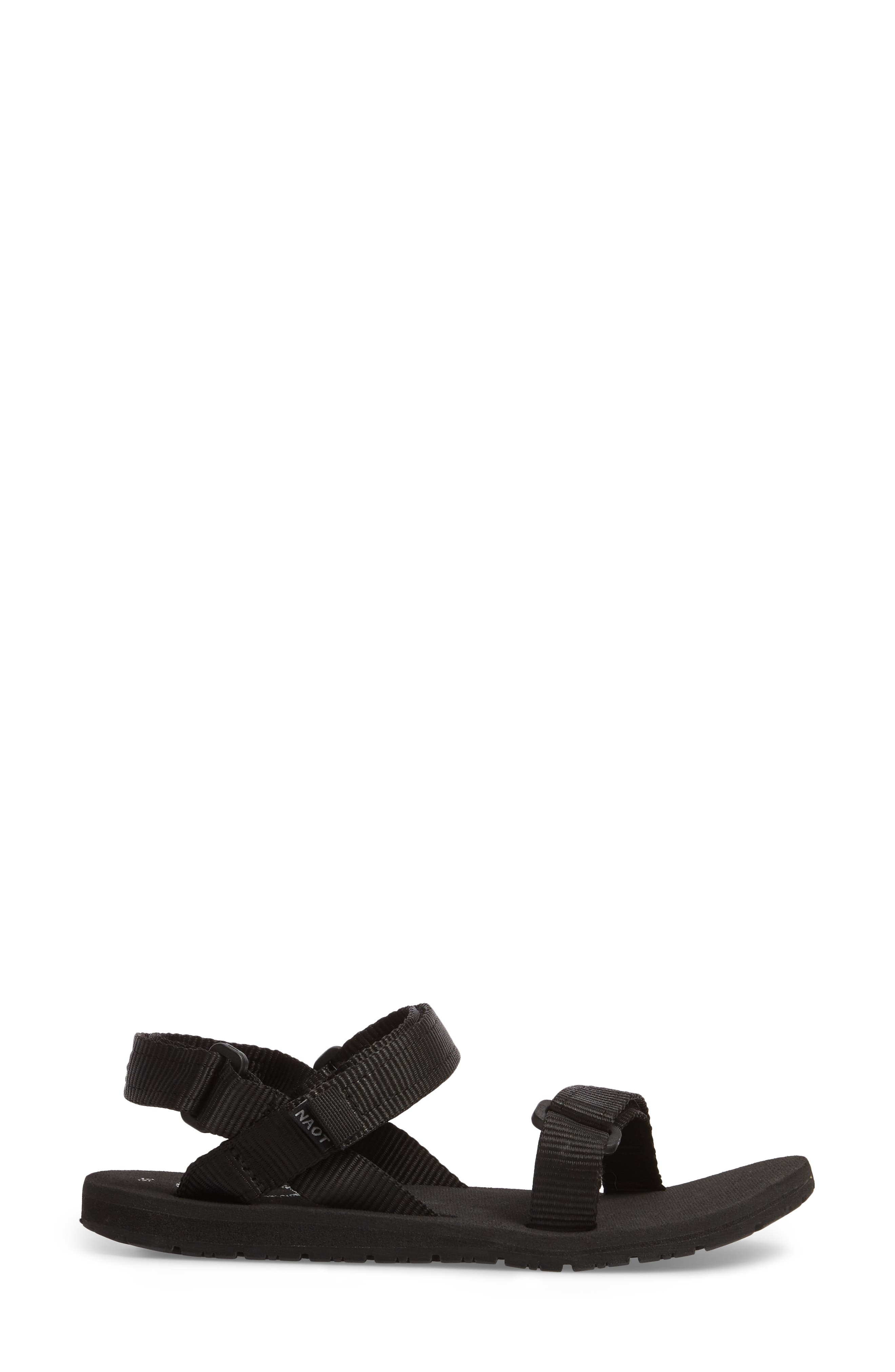 Haven Waterproof Sandal,                             Alternate thumbnail 3, color,                             BLACK FABRIC