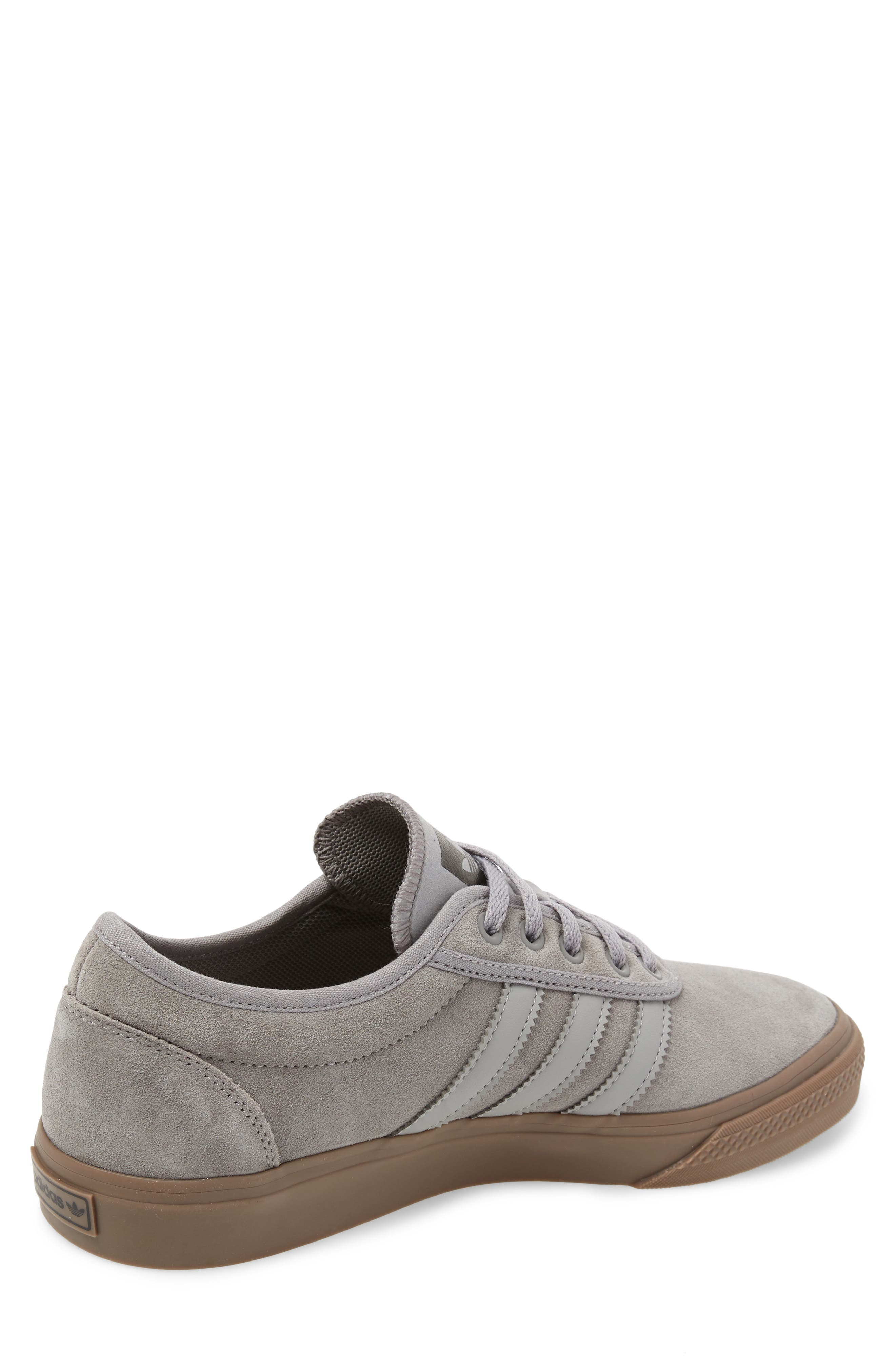 Adiease Skate Sneaker,                             Alternate thumbnail 2, color,                             SOLID GREY/ SOLID GREY/ GUM