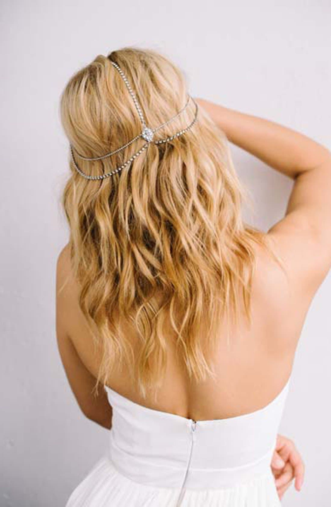 'Lindsay' Embellished Hair Chain,                             Alternate thumbnail 3, color,