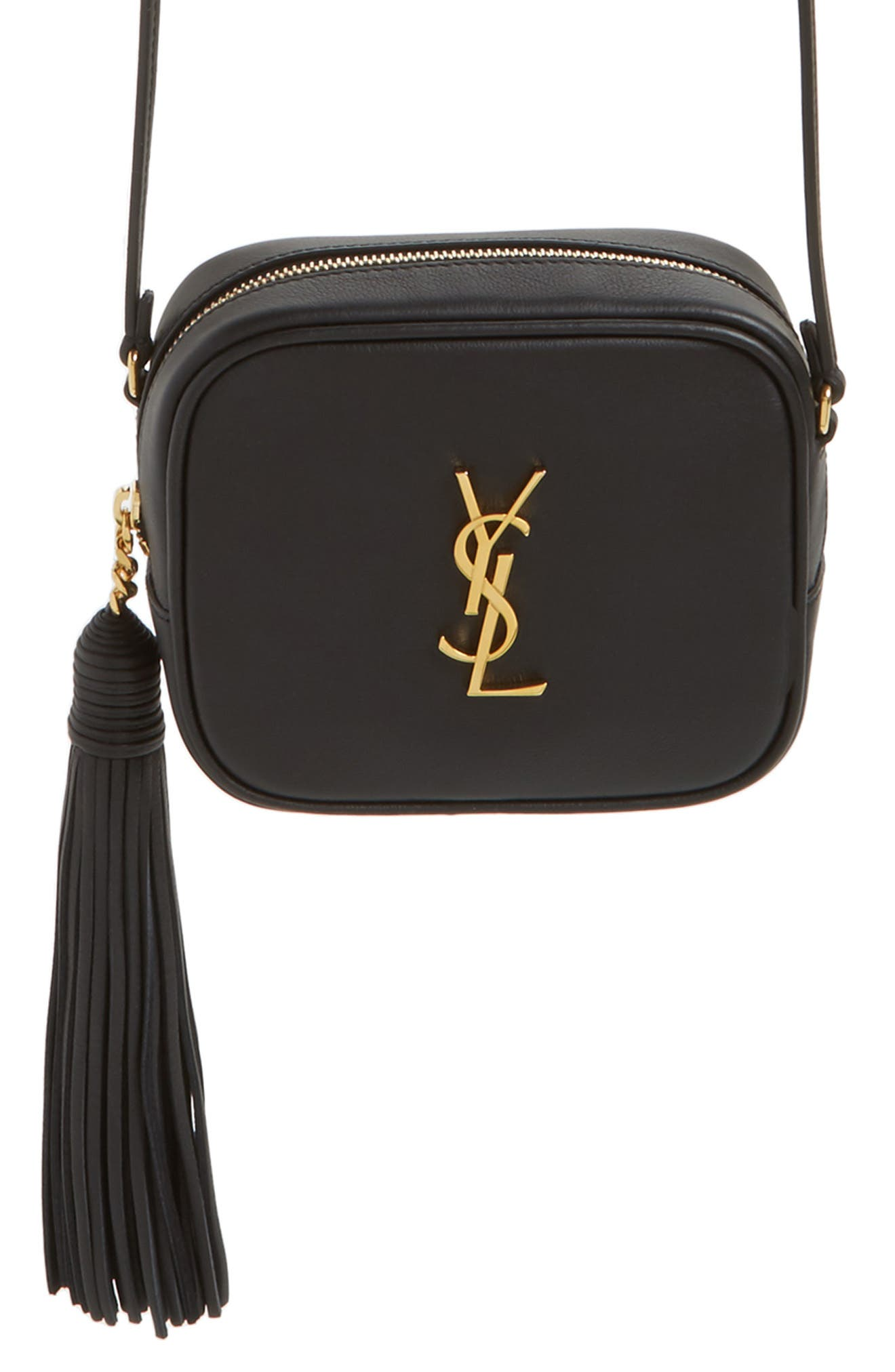 'Monogram Mini Blogger' Crossbody Bag,                             Alternate thumbnail 7, color,                             001