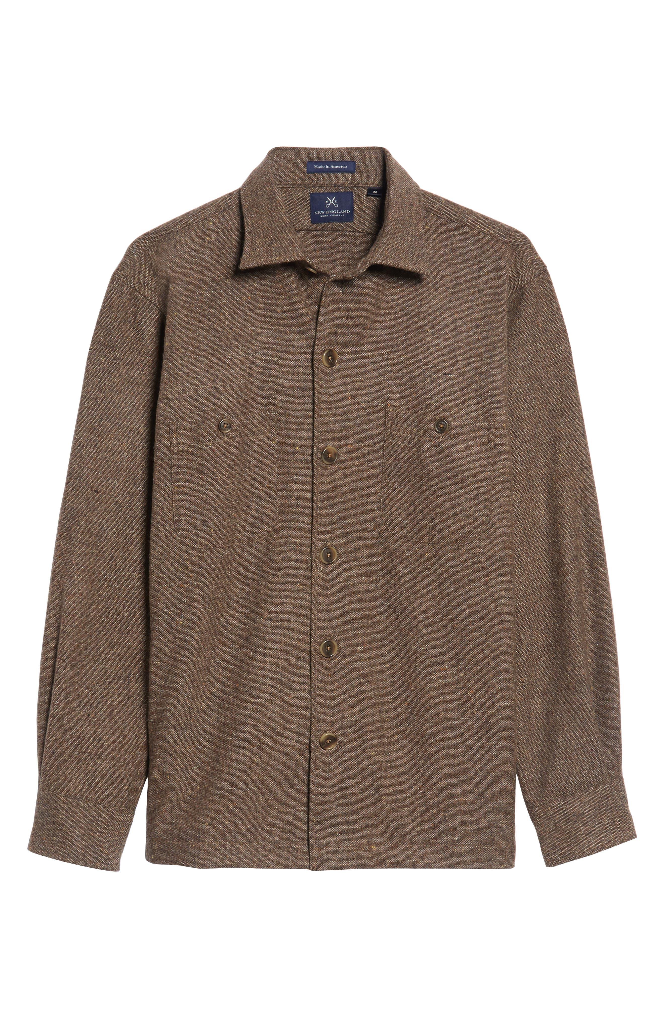 Slim Fit Wool Sport Shirt,                             Alternate thumbnail 6, color,