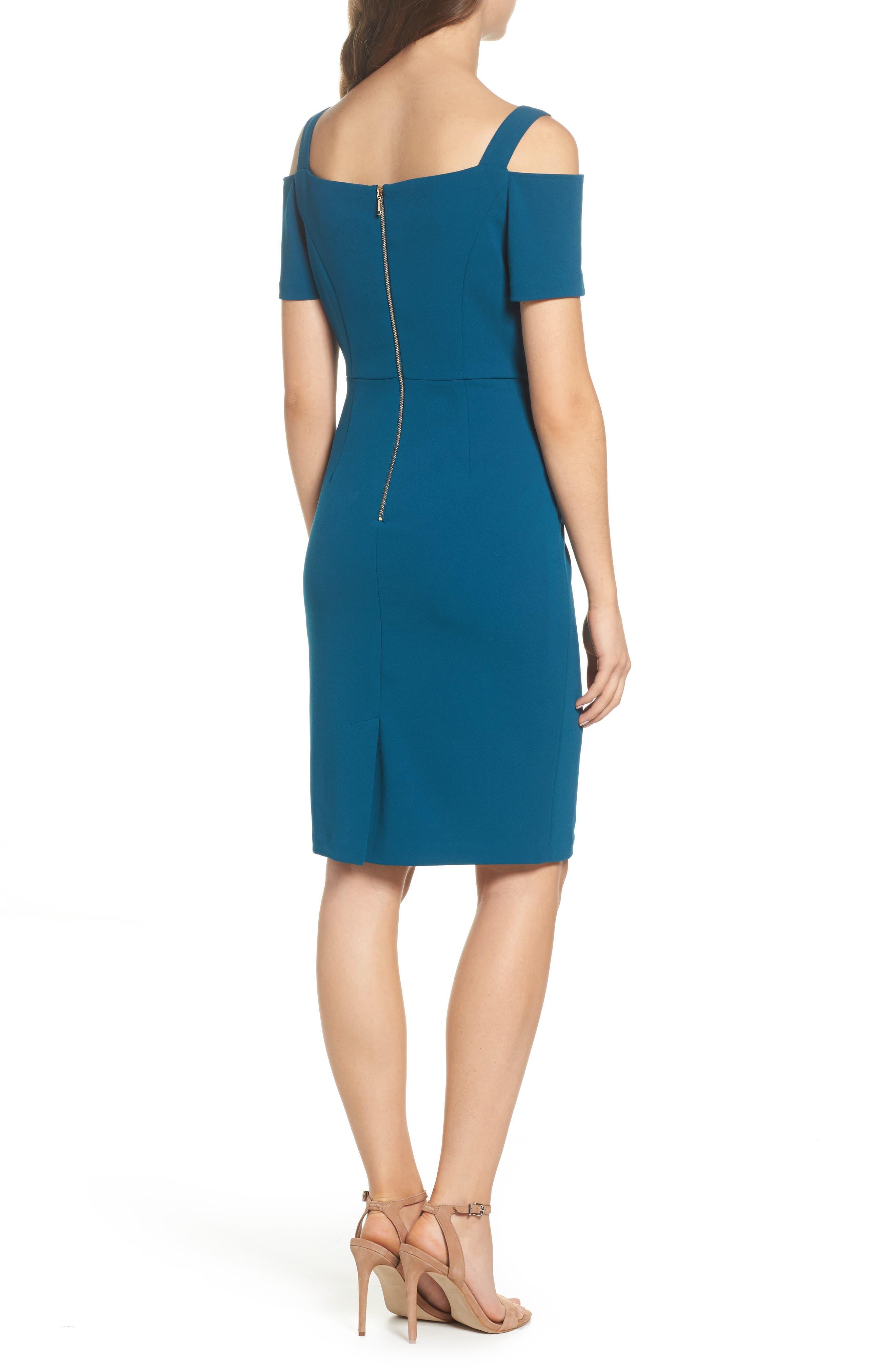 Cold Shoulder Crepe Dress,                             Alternate thumbnail 2, color,                             473