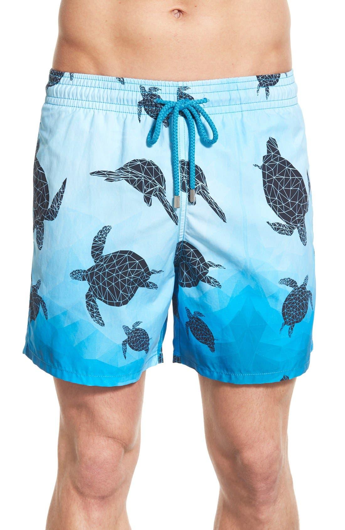 'Moorea - 3D Turtles' Swim Trunks,                         Main,                         color, 401