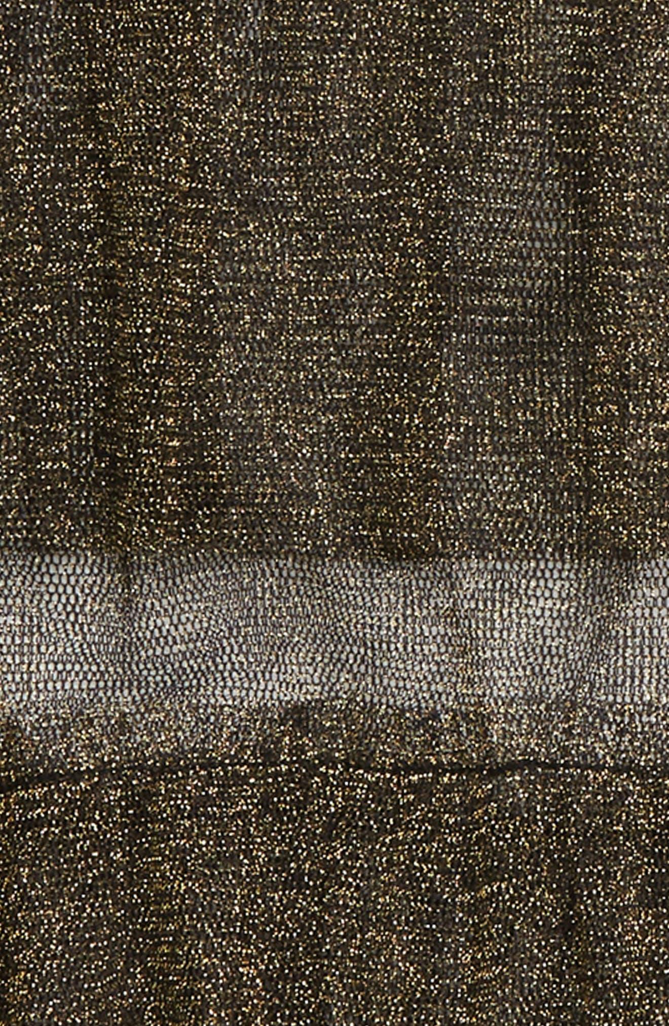 Sheer Sparkle Tulle Top,                             Alternate thumbnail 2, color,                             BLACK