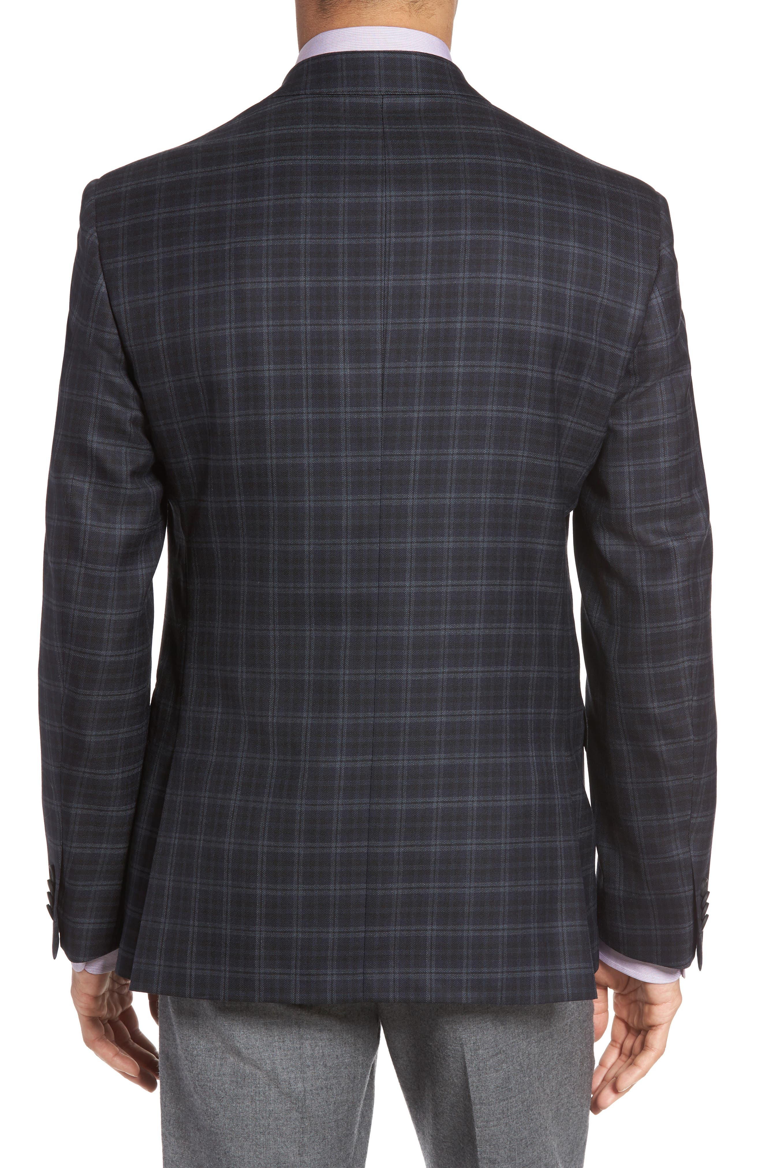 Classic Fit Plaid Wool Sport Coat,                             Alternate thumbnail 2, color,                             422