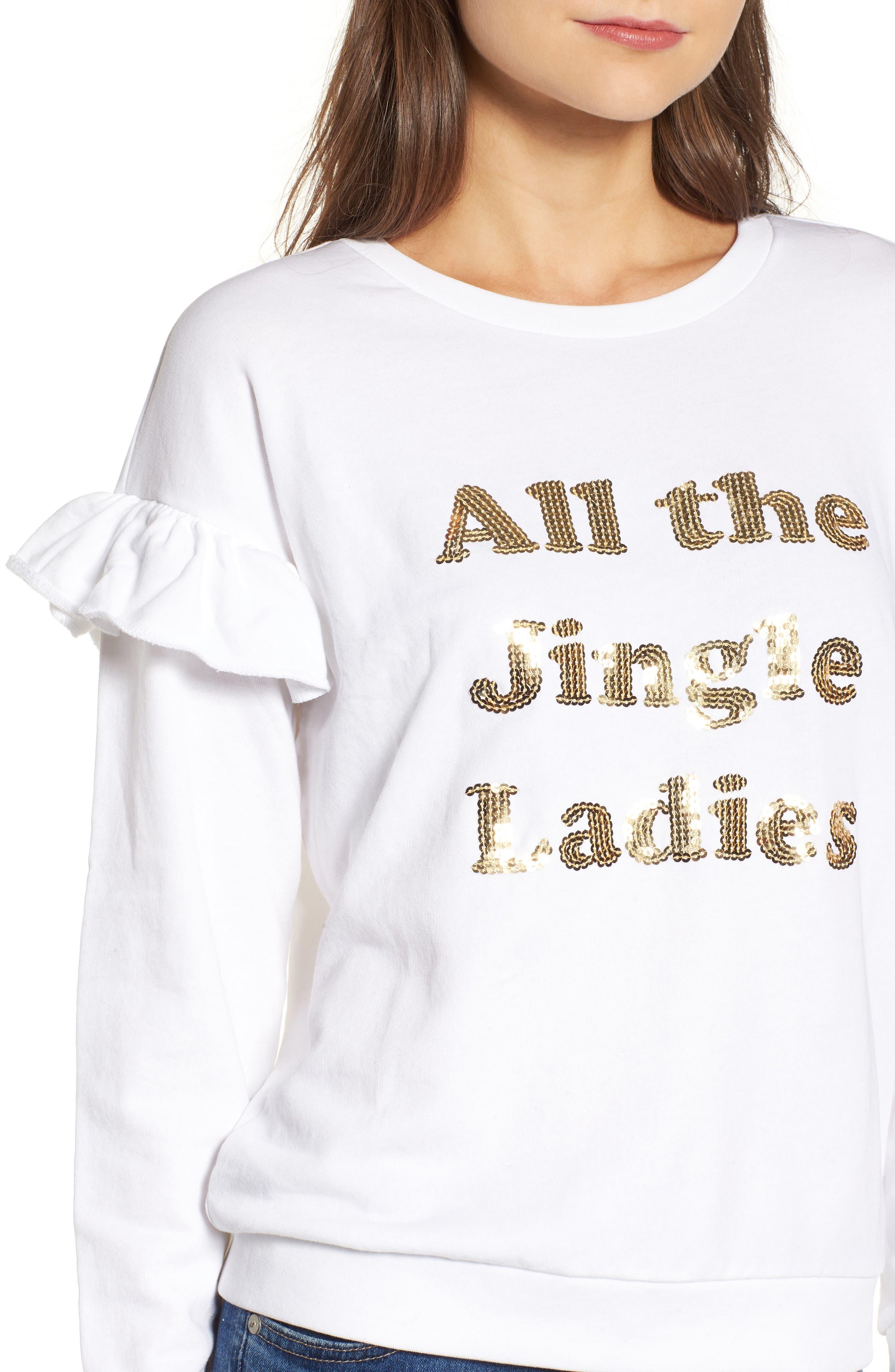 All the Jingle Ladies Sweatshirt,                             Alternate thumbnail 4, color,