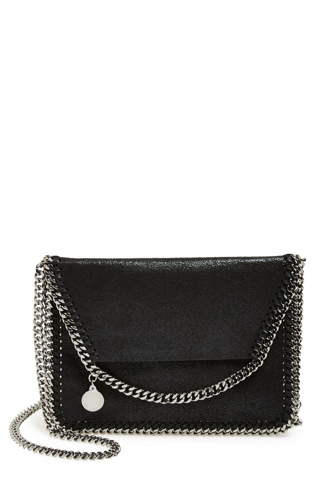 'Mini Falabella - Shaggy Deer' Faux Leather Crossbody Bag,                             Main thumbnail 1, color,                             001