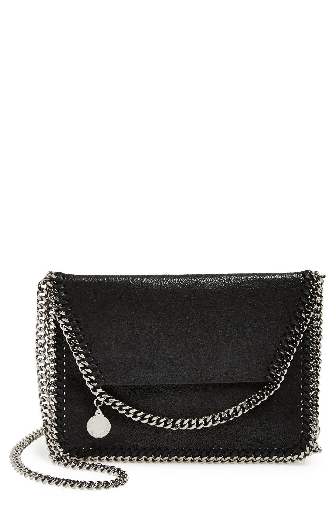 'Mini Falabella - Shaggy Deer' Faux Leather Crossbody Bag,                         Main,                         color, 001